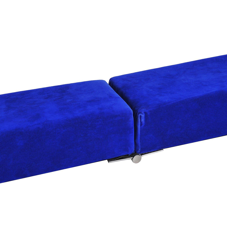 8FT-Folding-Floor-Balance-Beam-WOOD-CORE-Gymnastic-Training-Low-Height-Beam