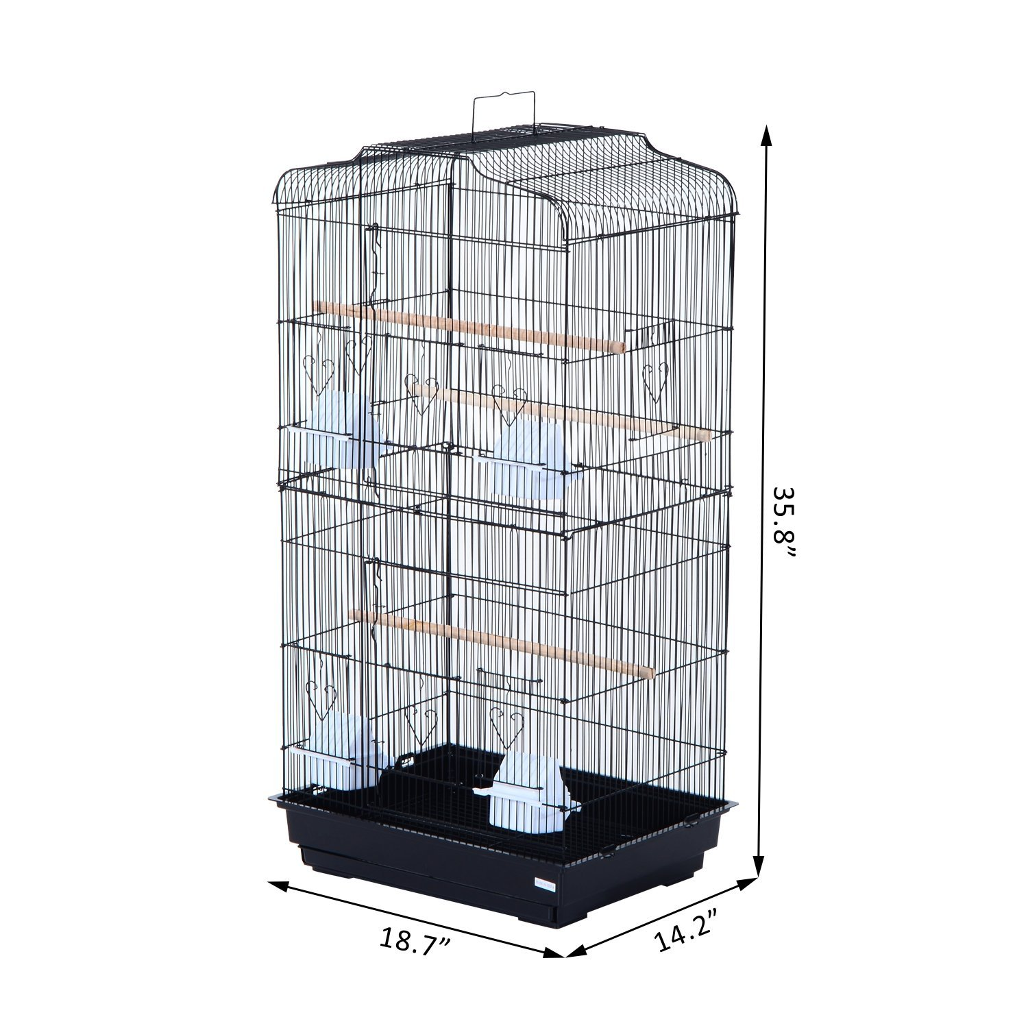 36-034-Bird-Cage-Parrot-Flight-Cage-2-Doors-4-Feeder thumbnail 3