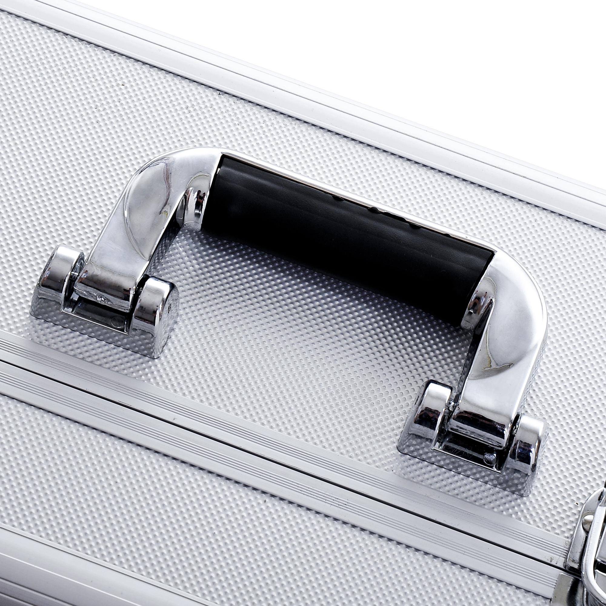 Aluminum-Rolling-Makeup-Train-Case-Trolley-Organizer-Storage-Box-Lockable thumbnail 21