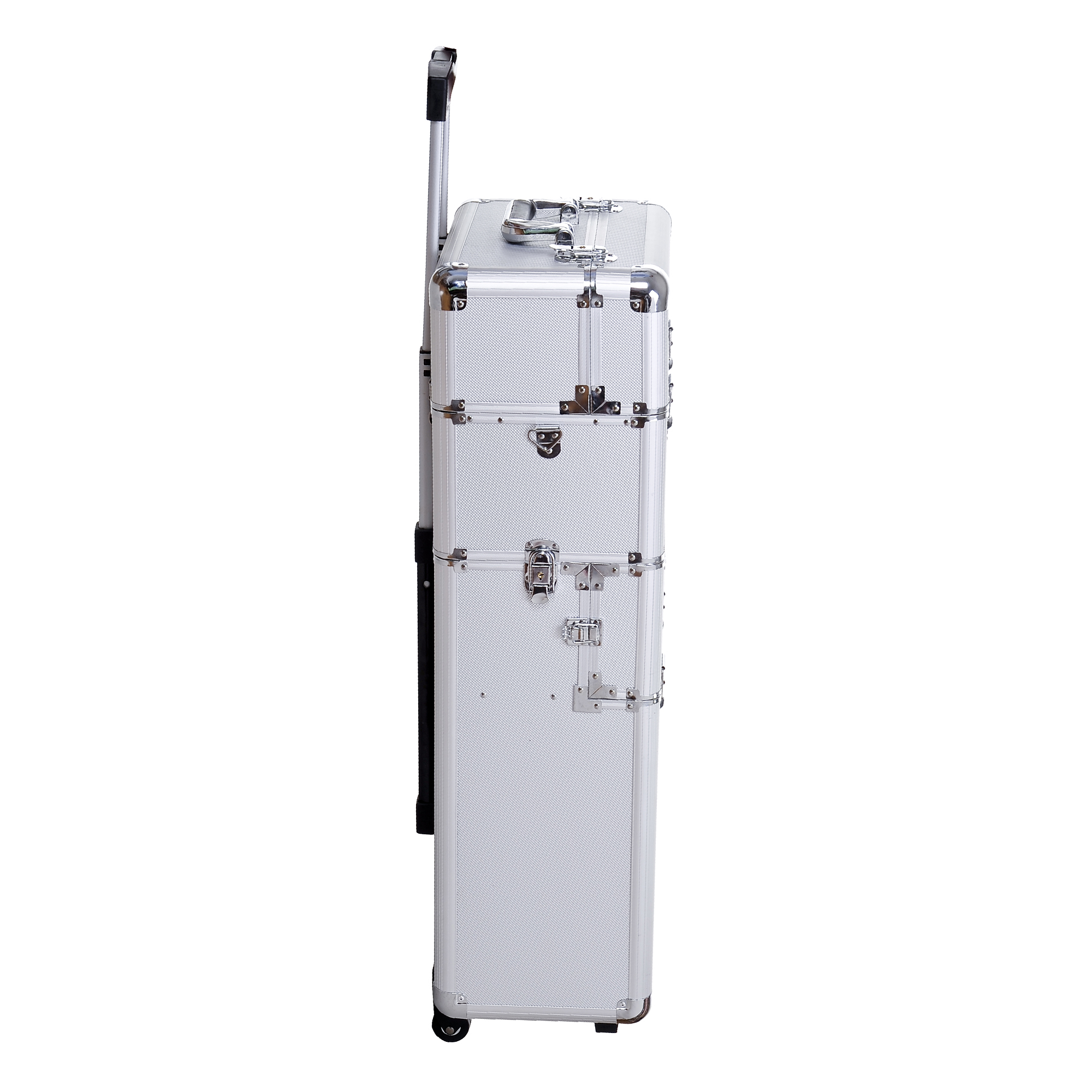Aluminum-Rolling-Makeup-Train-Case-Trolley-Organizer-Storage-Box-Lockable thumbnail 15