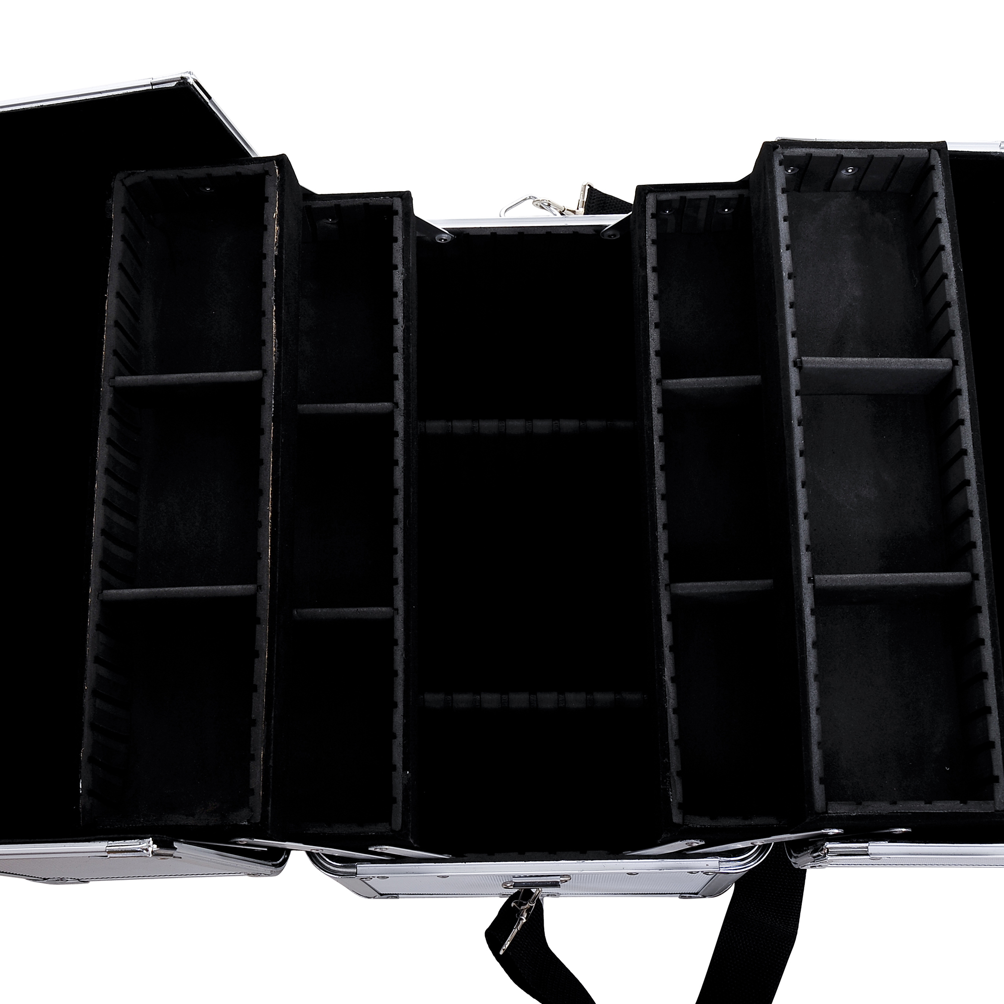 Aluminum-Rolling-Makeup-Train-Case-Trolley-Organizer-Storage-Box-Lockable thumbnail 20