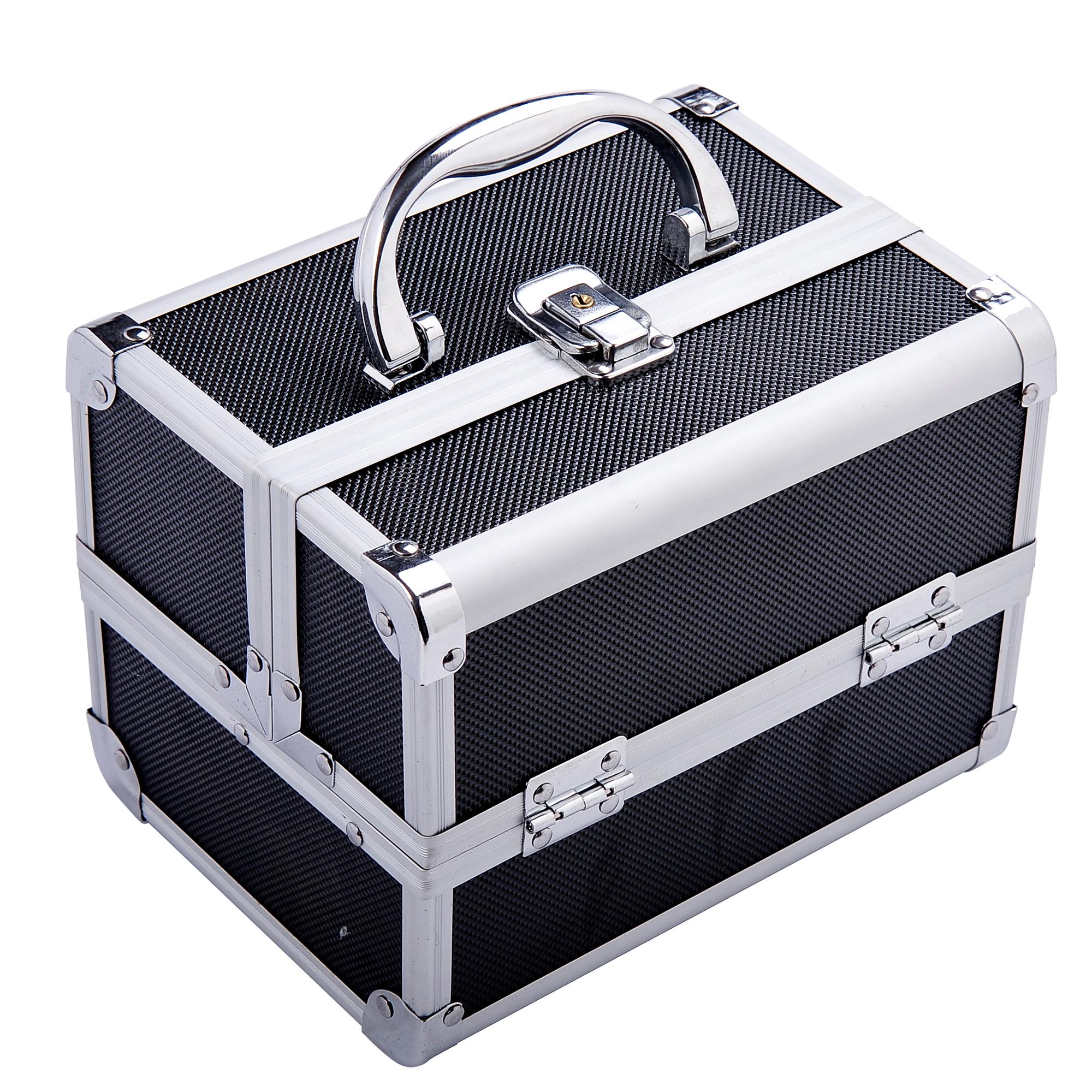 Aluminum-Rolling-Makeup-Train-Case-Trolley-Organizer-Storage-Box-Lockable thumbnail 24