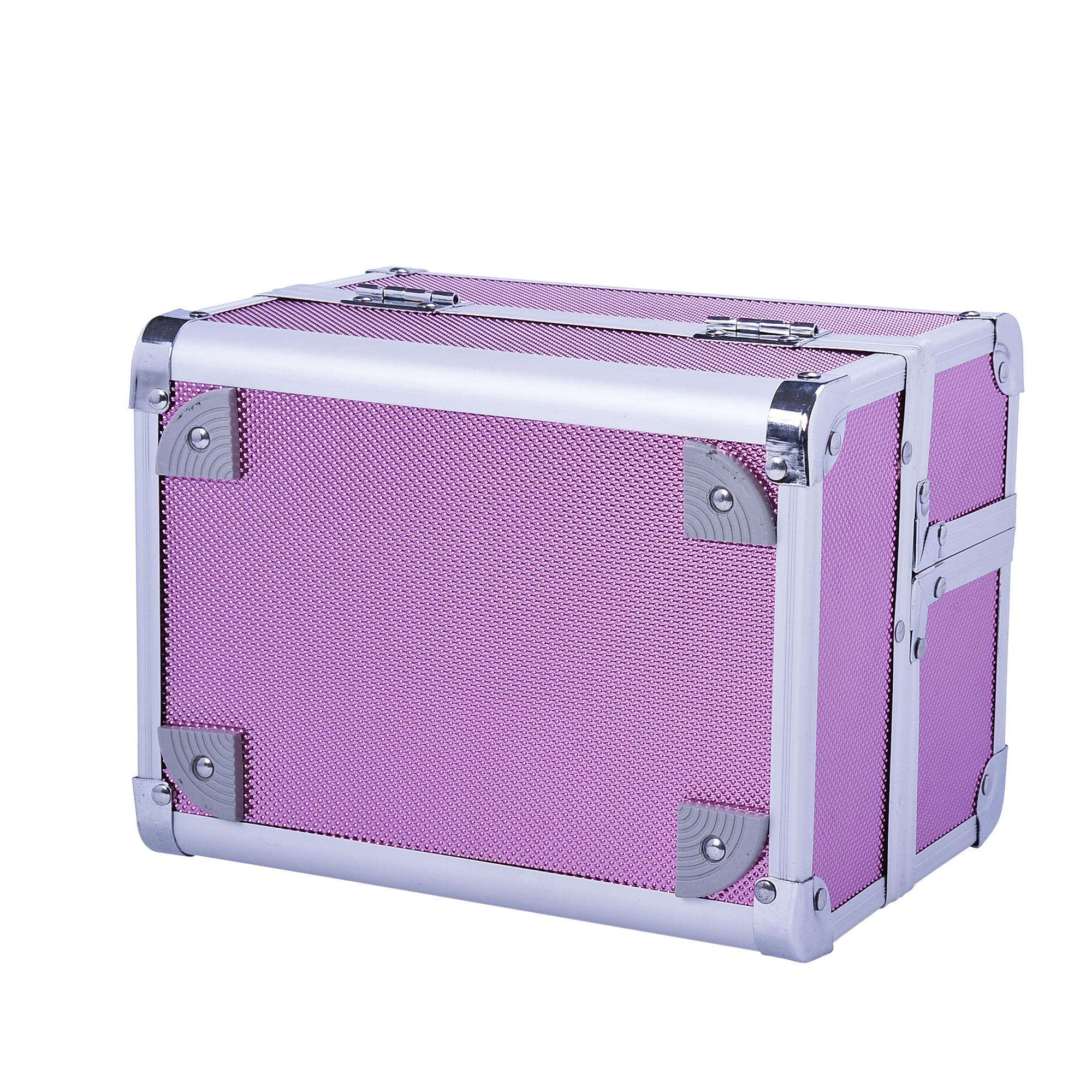 Aluminum-Rolling-Makeup-Train-Case-Trolley-Organizer-Storage-Box-Lockable