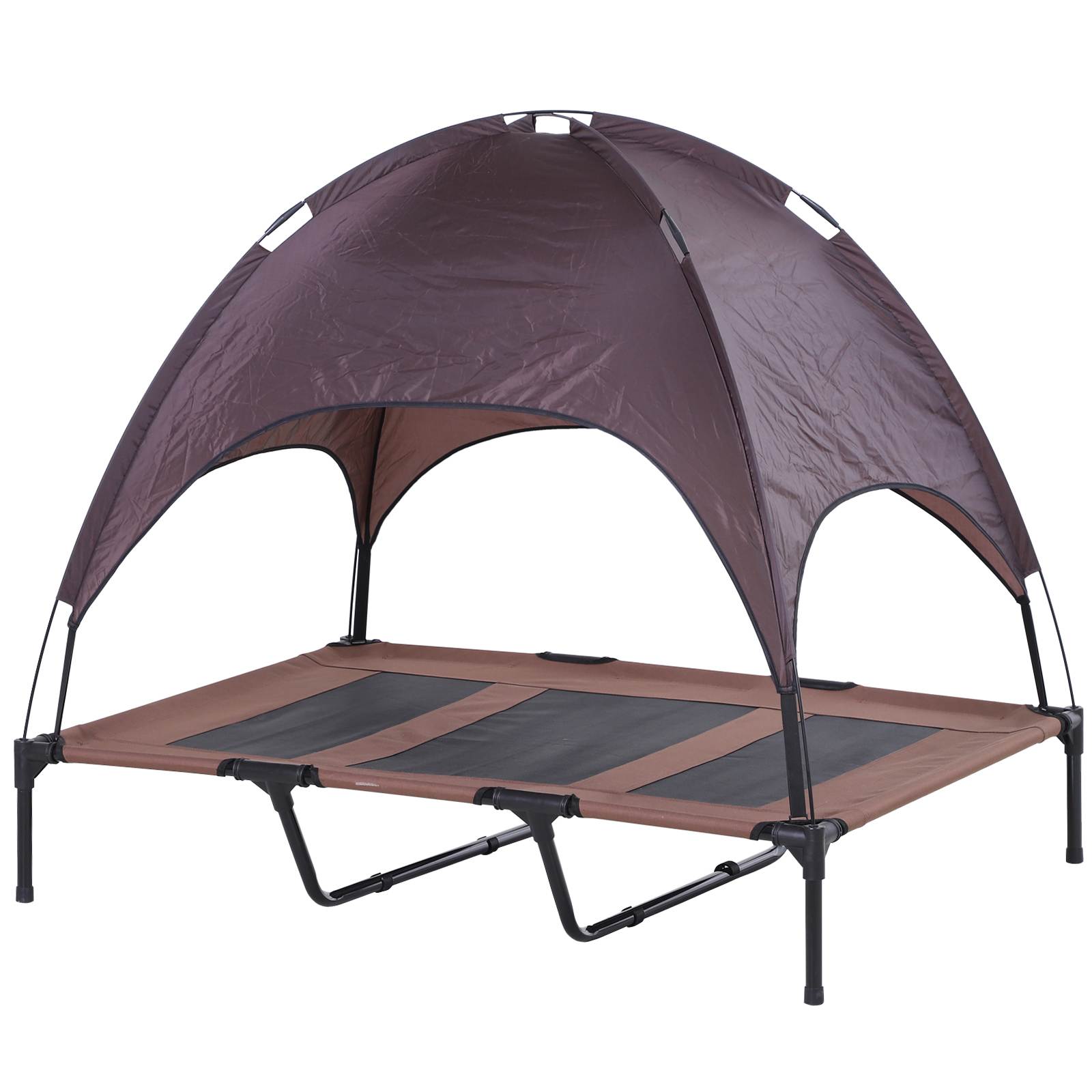 PawHut-Elevated-Pet-Bed-Dog-Foldable-Cot-Tent-Canopy thumbnail 10