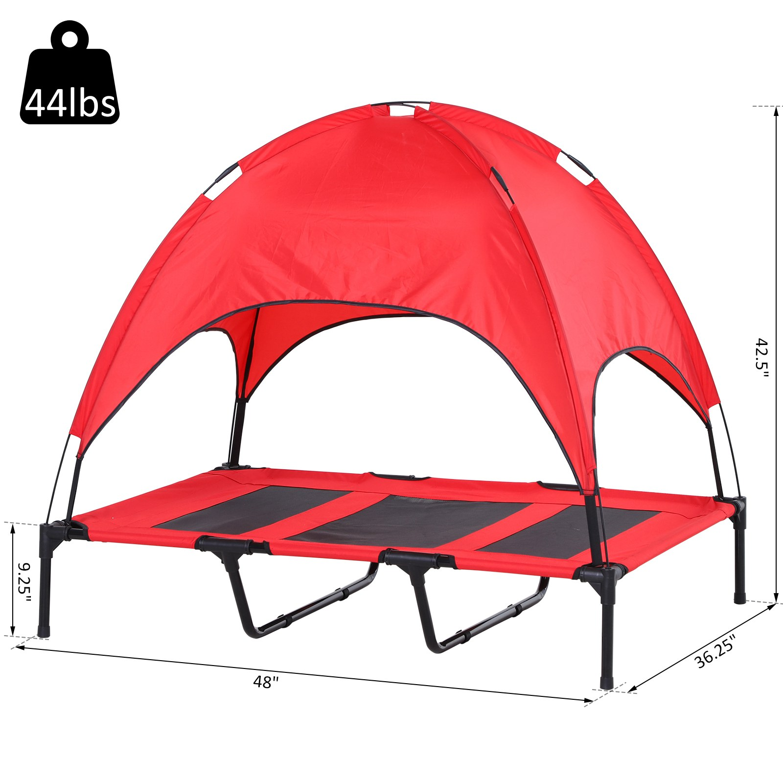 PawHut-Elevated-Pet-Bed-Dog-Foldable-Cot-Tent-Canopy thumbnail 17