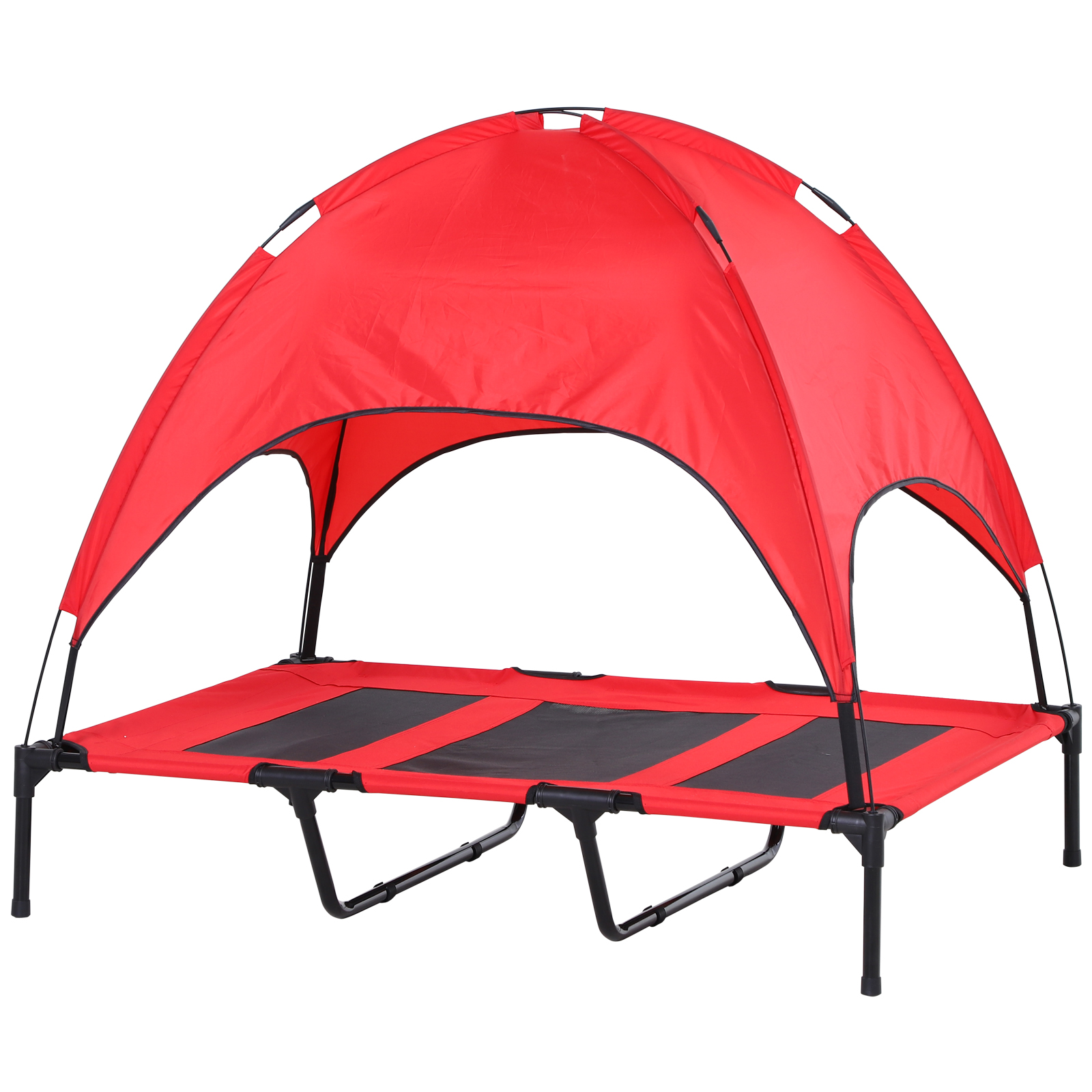 PawHut-Elevated-Pet-Bed-Dog-Foldable-Cot-Tent-Canopy thumbnail 20