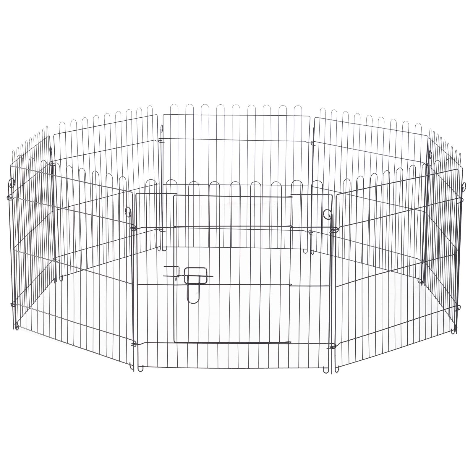 8-Panel-Metal-Pet-Playpen-Dog-Puppy-Cat-Rabbit-Exercise-Fence-Yard-Kennel thumbnail 6