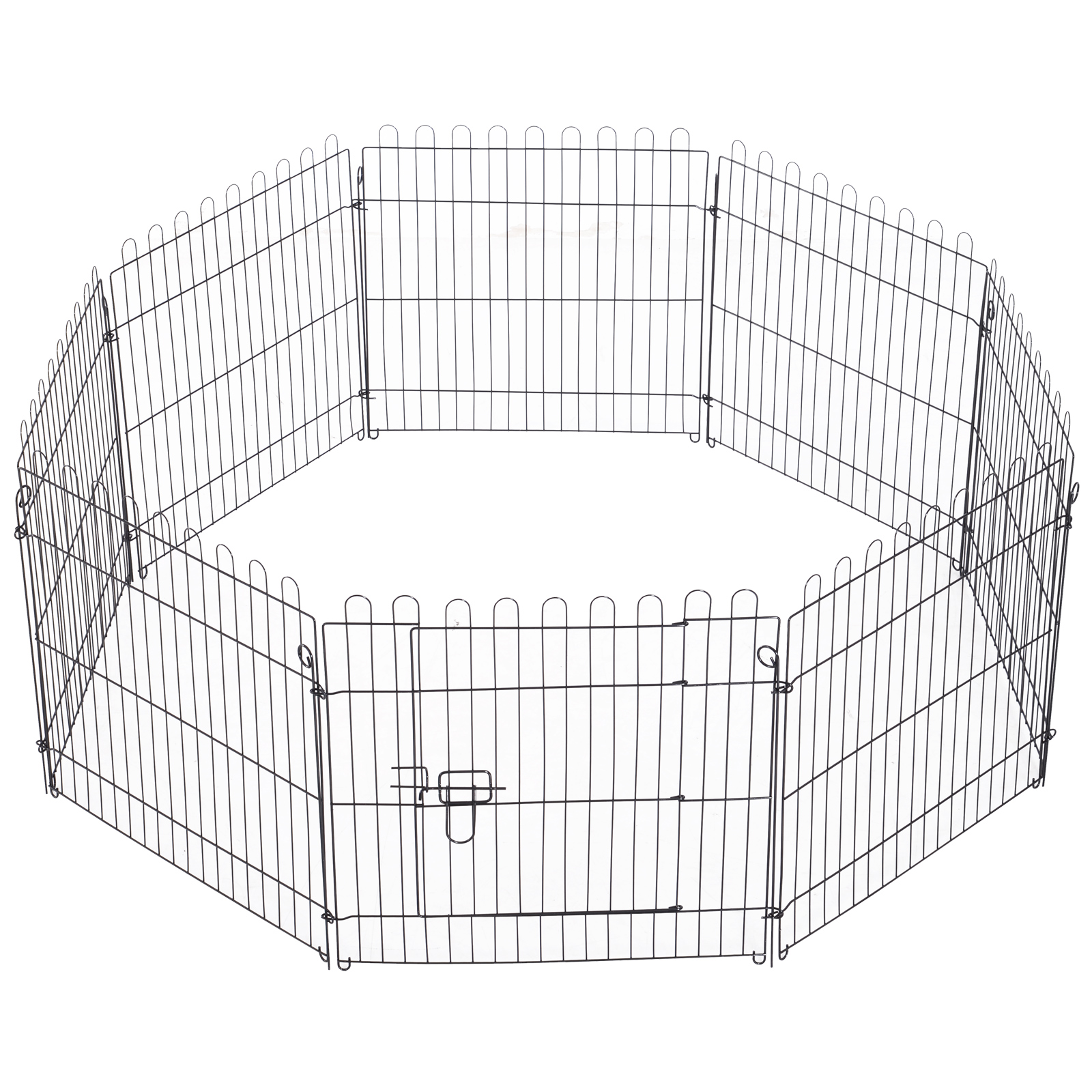 8-Panel-Metal-Pet-Playpen-Dog-Puppy-Cat-Rabbit-Exercise-Fence-Yard-Kennel thumbnail 7