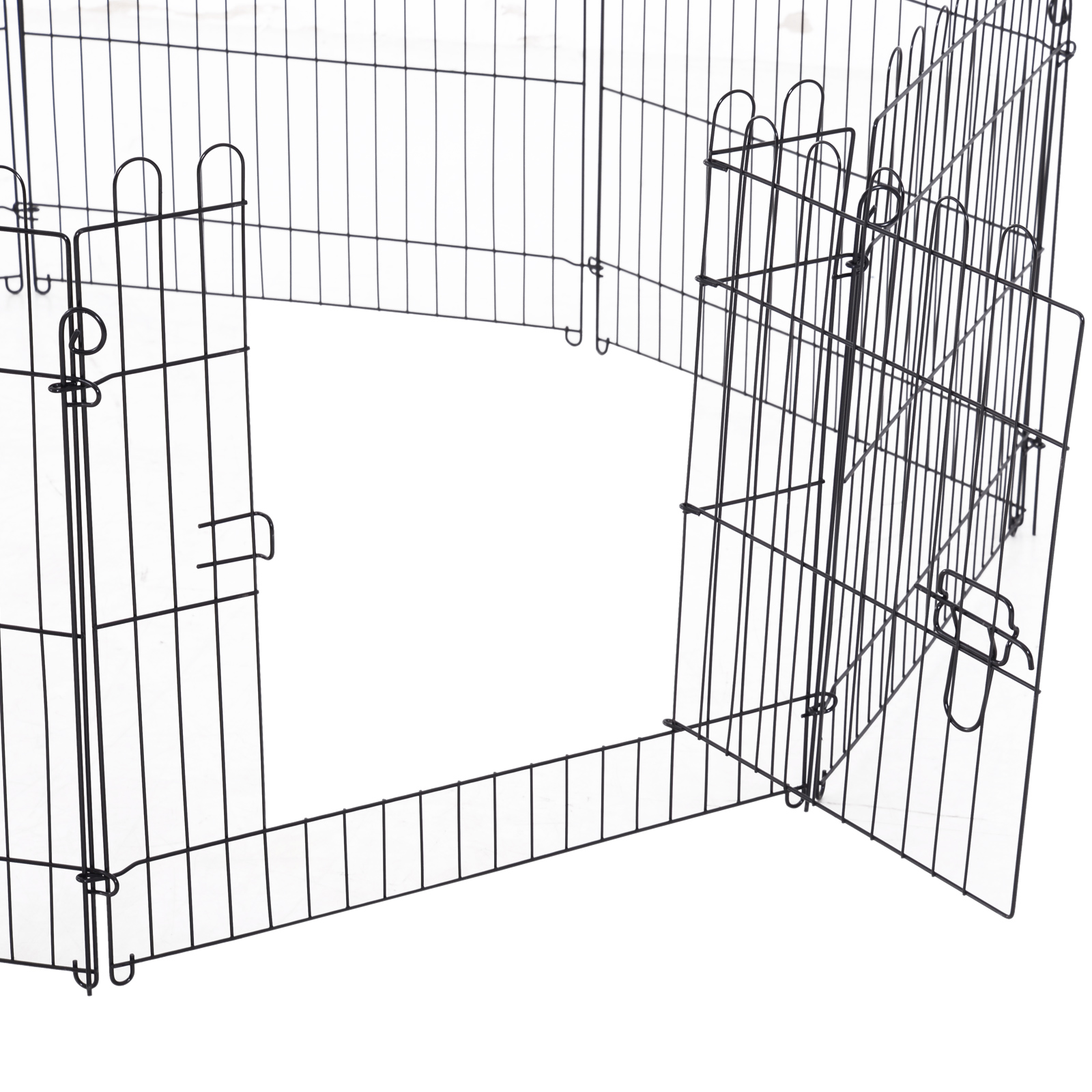 8-Panel-Metal-Pet-Playpen-Dog-Puppy-Cat-Rabbit-Exercise-Fence-Yard-Kennel thumbnail 8