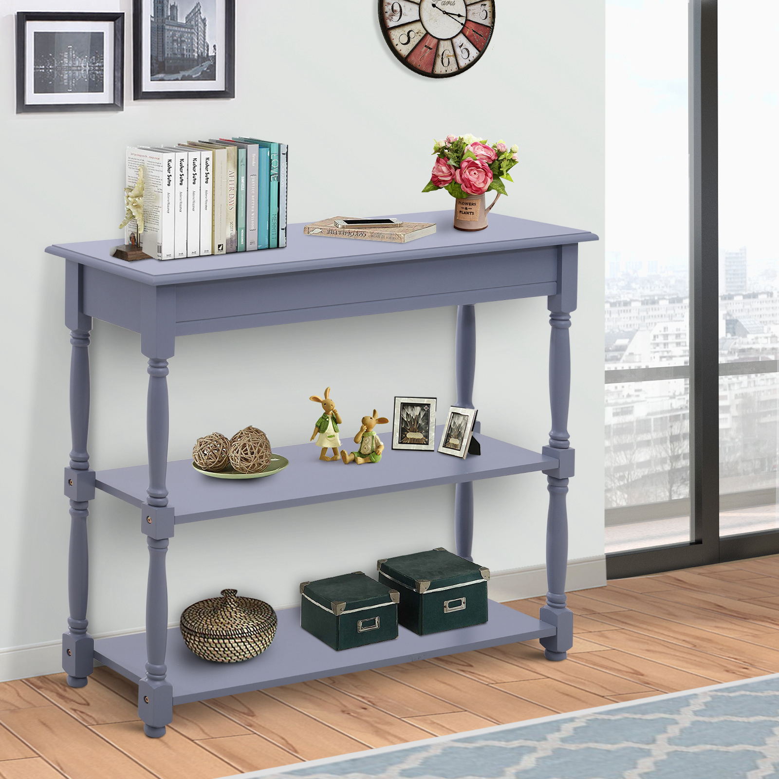 Details about HOMCOM Console Table Wood Entryway Sofa Accent Hallway Living  Room Furniture