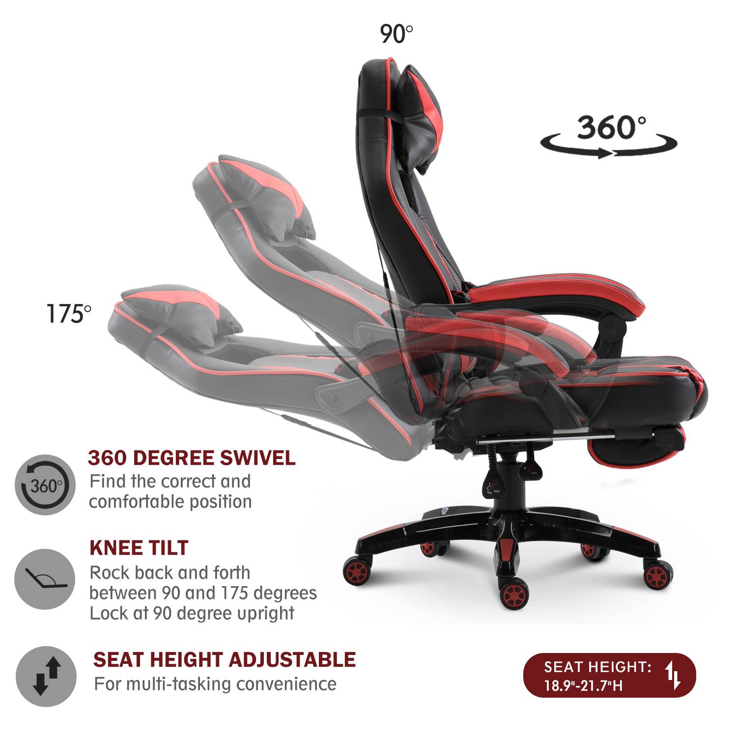 High-Back-Gaming-Chair-Ergonomic-Computer-Seat-Lumbar-Support-w-Footrest