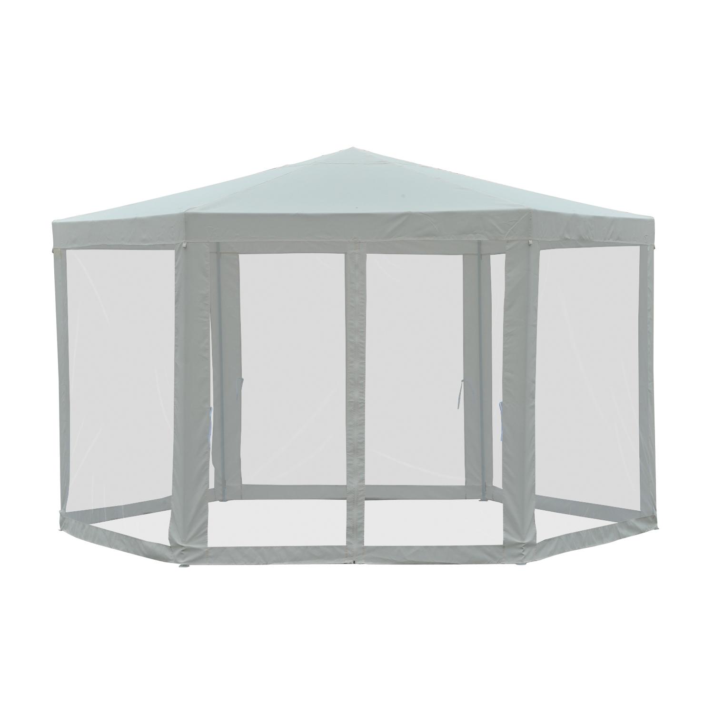13-039-Hexagon-Gazebo-Garden-Sunshade-Pavilion-Outdoor-Events-w-Mosquito-Netting