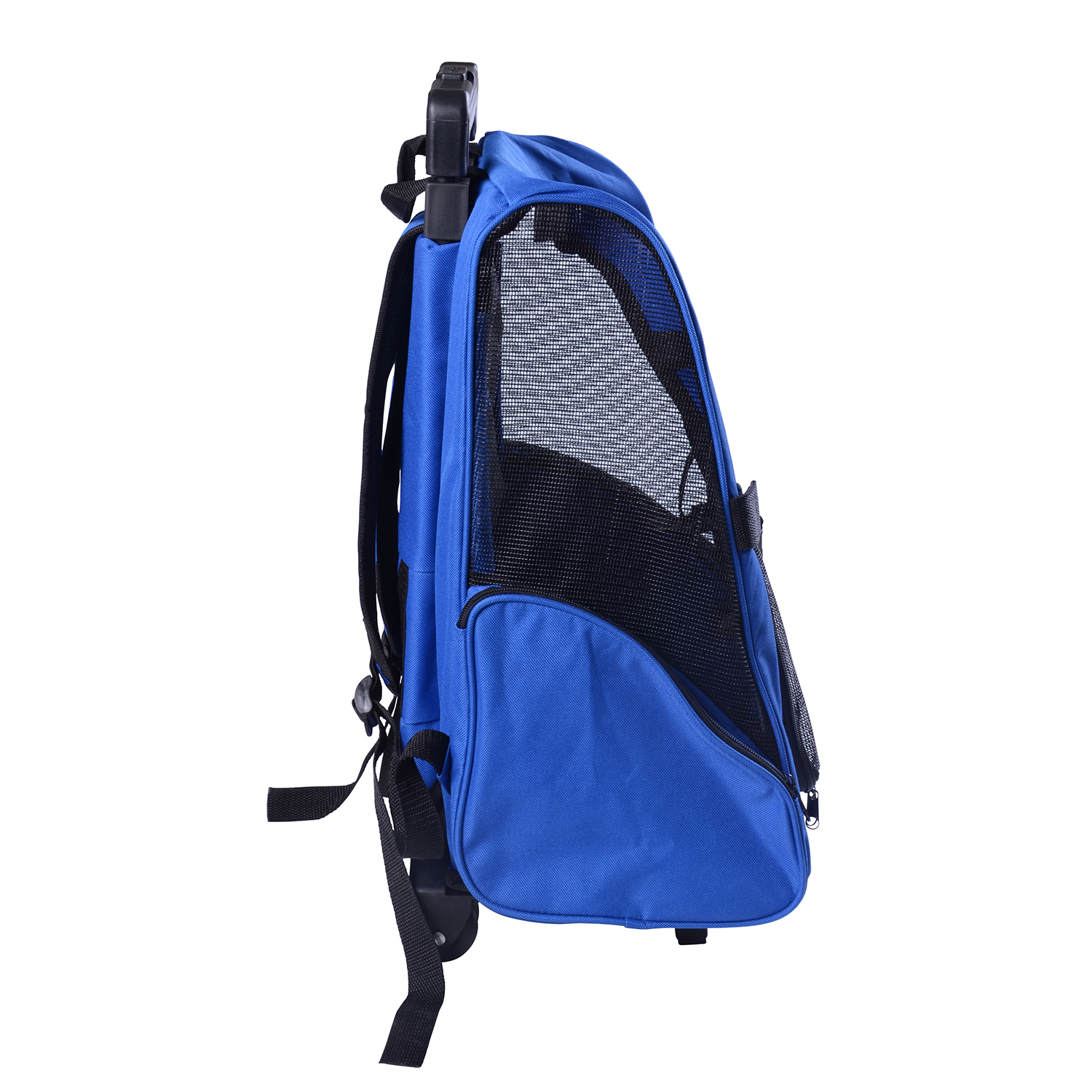 Pet Luggage Box Dog Cat Travel Backpack Carrier W Rolling