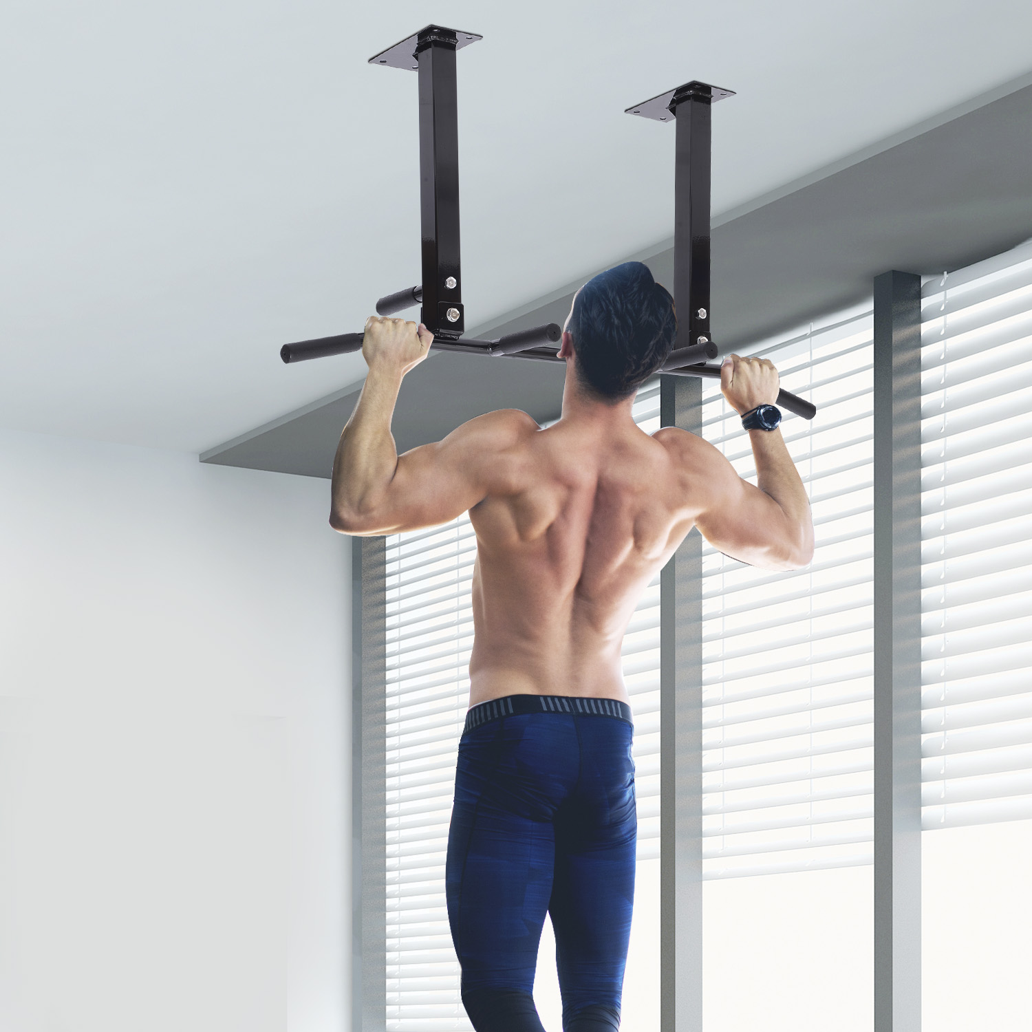 Ceiling Mounted Pull Up Bar Exercise Chin Up Bar Strength Training