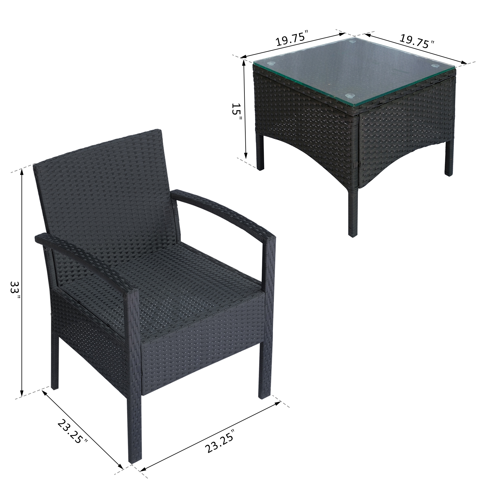 Rattan Coffee Table Canada: 3pcs Rattan Wicker Coffee Set Indoor Outdoor Table Set All
