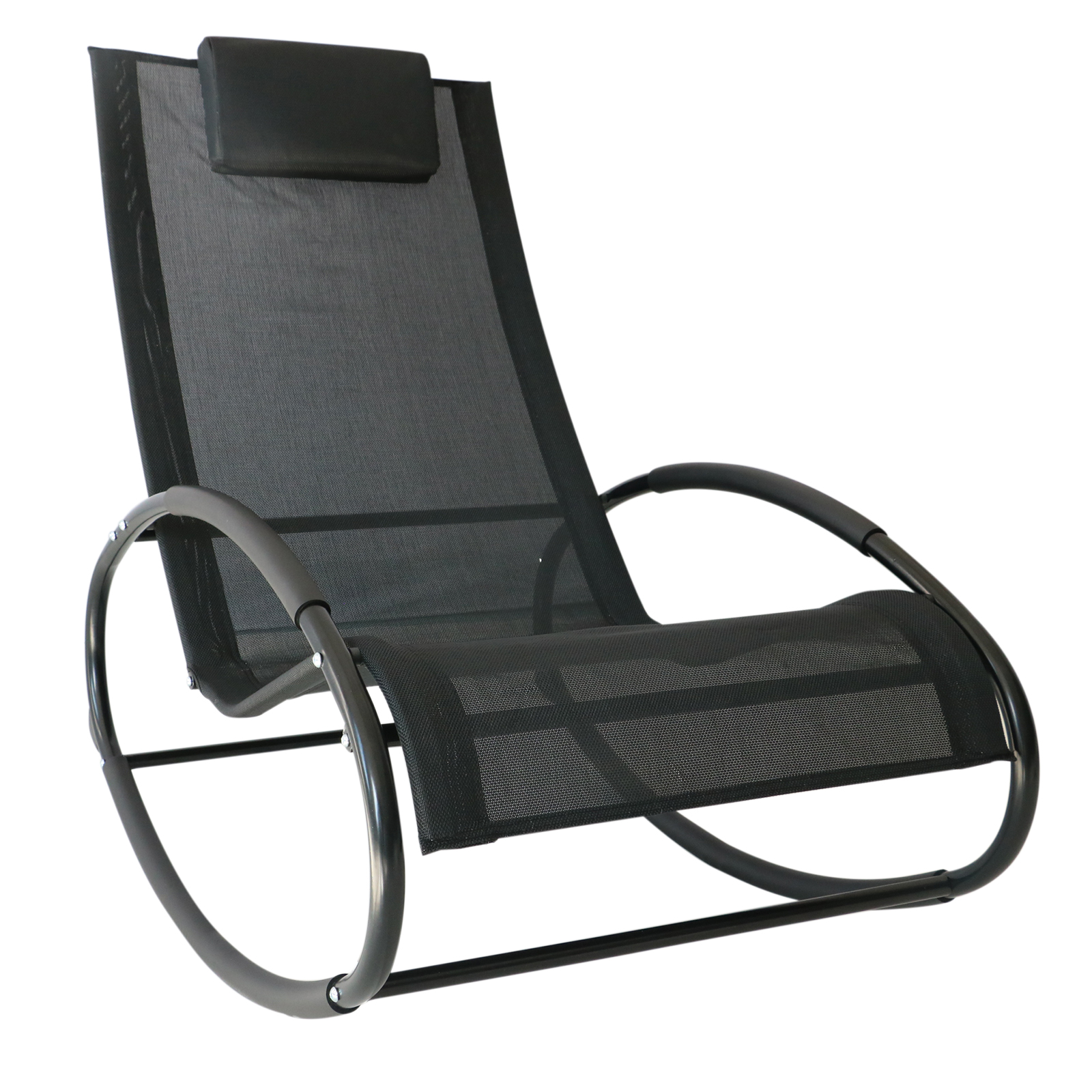 Outsunny Orbital Zero Gravity Chaise Patio Rocking Lounge