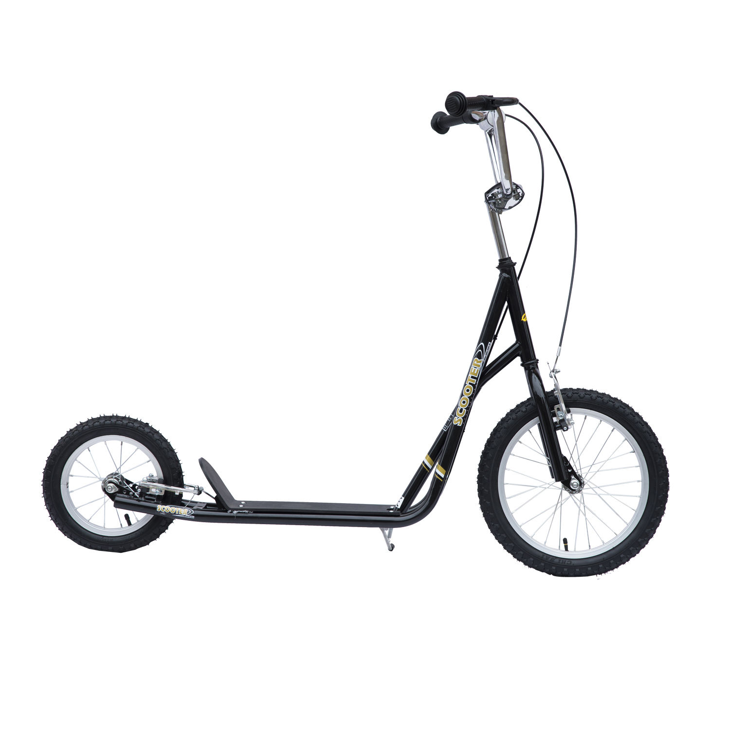 Adjustable-Teen-Kick-Scooter-Kids-Ride-On-Stunt-Street-Bike-16-034-Tire thumbnail 4