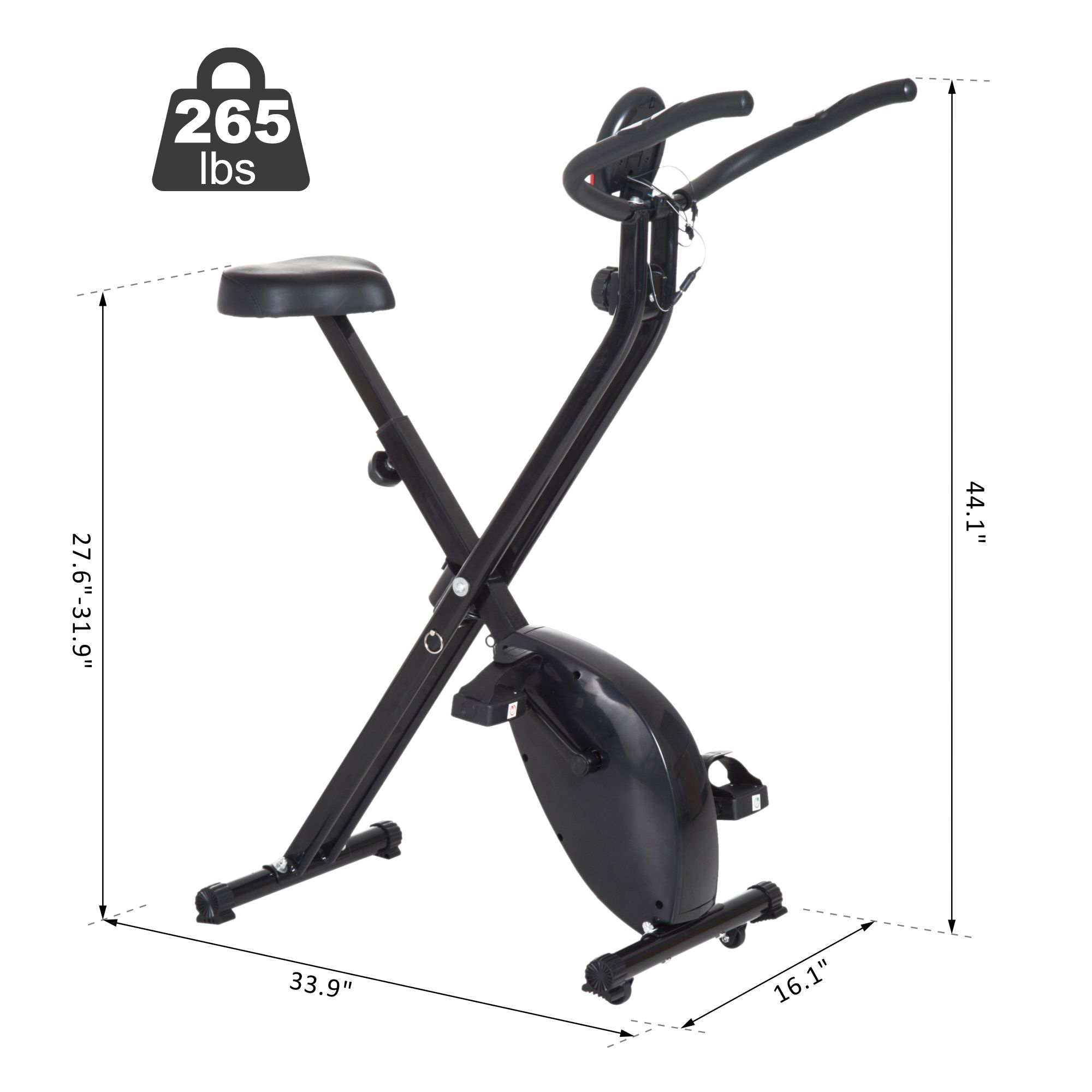 Terrific Details About Soozier Stationary Upright Bike Foldable Exercise Bike 8 Level Resistance Pulse Creativecarmelina Interior Chair Design Creativecarmelinacom