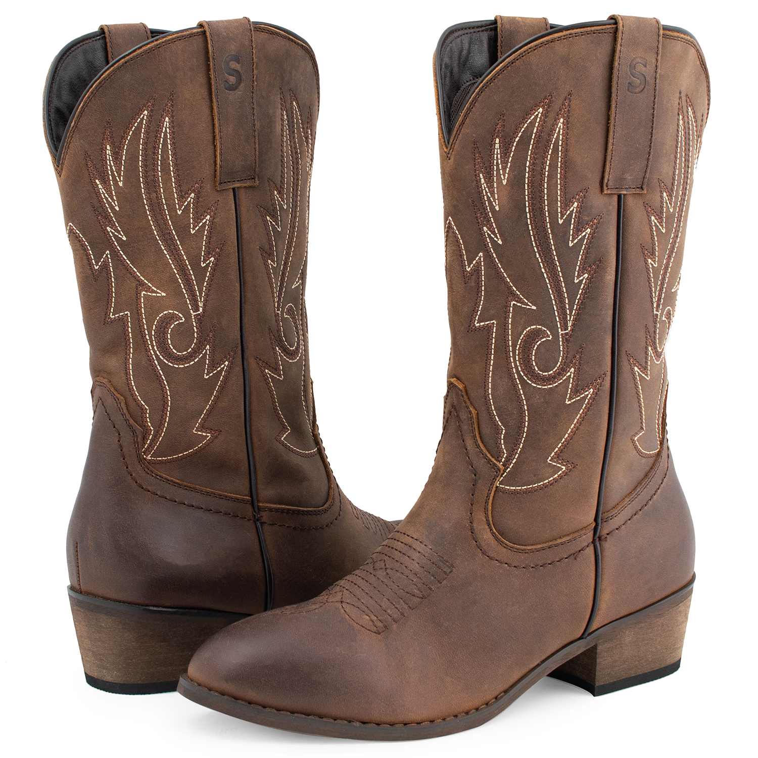 FREE SHIP SheSole Donna Pelle Cowboy Stivali Western Shoes Wediing Shoes Western Size e5db44