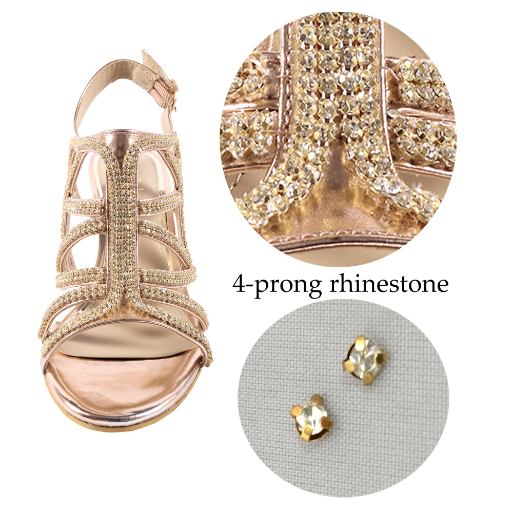 Womens-Ladies-Low-Heel-Dress-Sandals-Wedding-Prom-Party-Shoes-Silver-Gold-Size