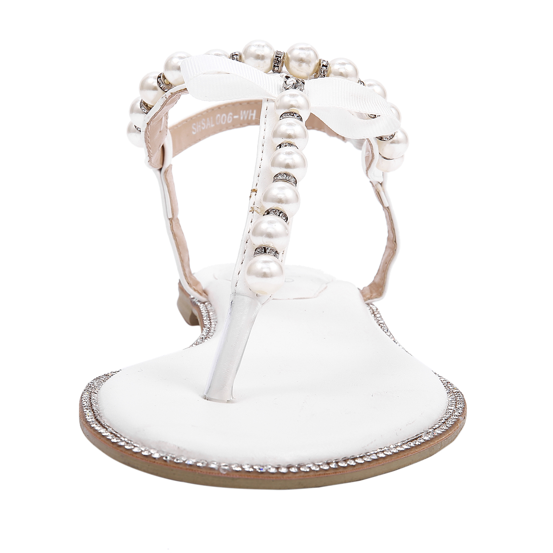 046163bd7d12e UK SHIP SheSole Womens Ladies Flat Sandals Beach Wedding Shoes White ...
