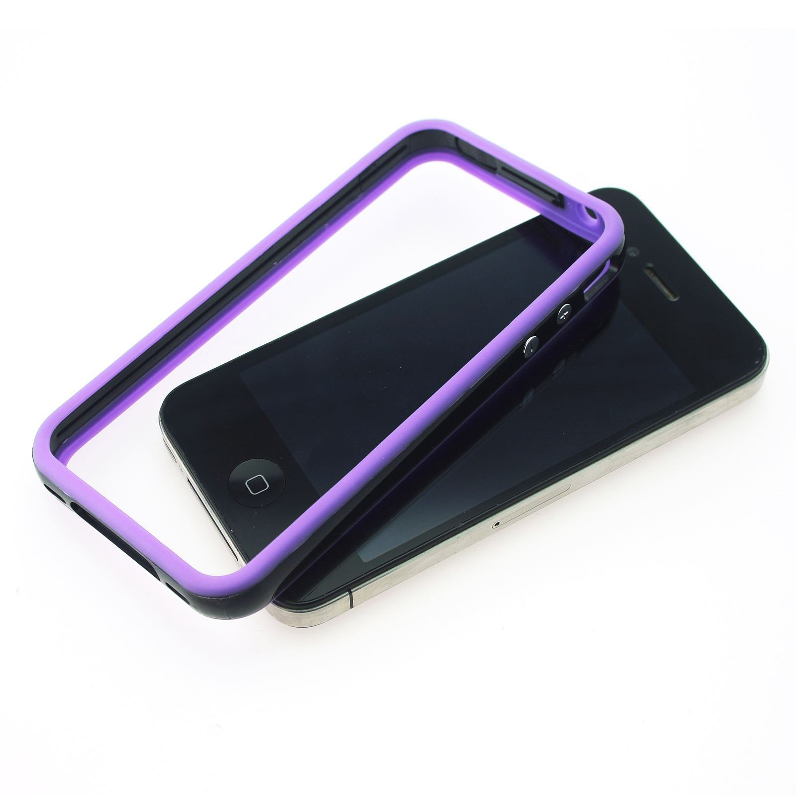 DUAL-COLOUR-BUMPER-FRAME-W-BUILT-IN-BUTTONS-SILICONE-CASE-COVER-FOR-IPHONE-4-4S miniatuur 15