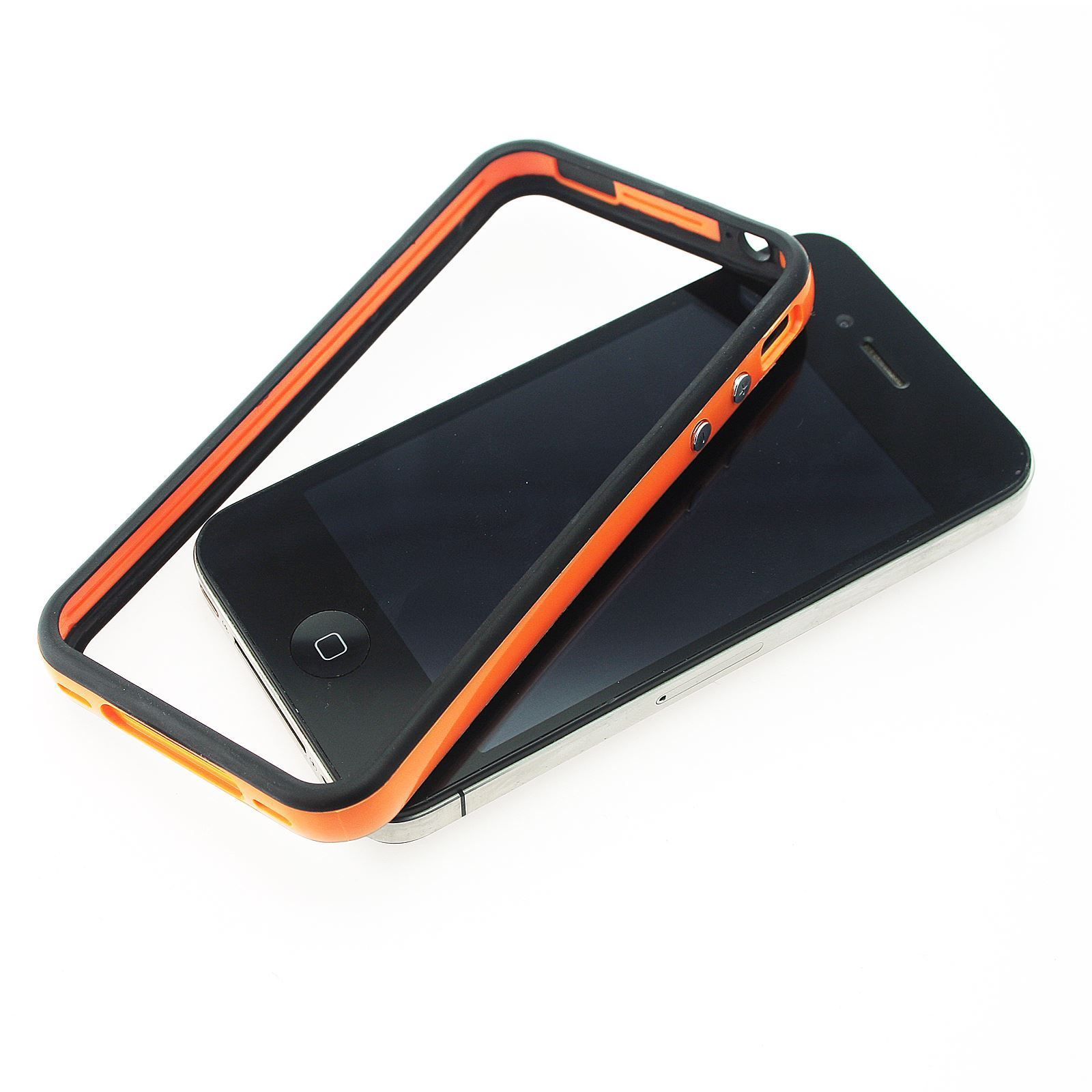DUAL-COLOUR-BUMPER-FRAME-W-BUILT-IN-BUTTONS-SILICONE-CASE-COVER-FOR-IPHONE-4-4S miniatuur 16