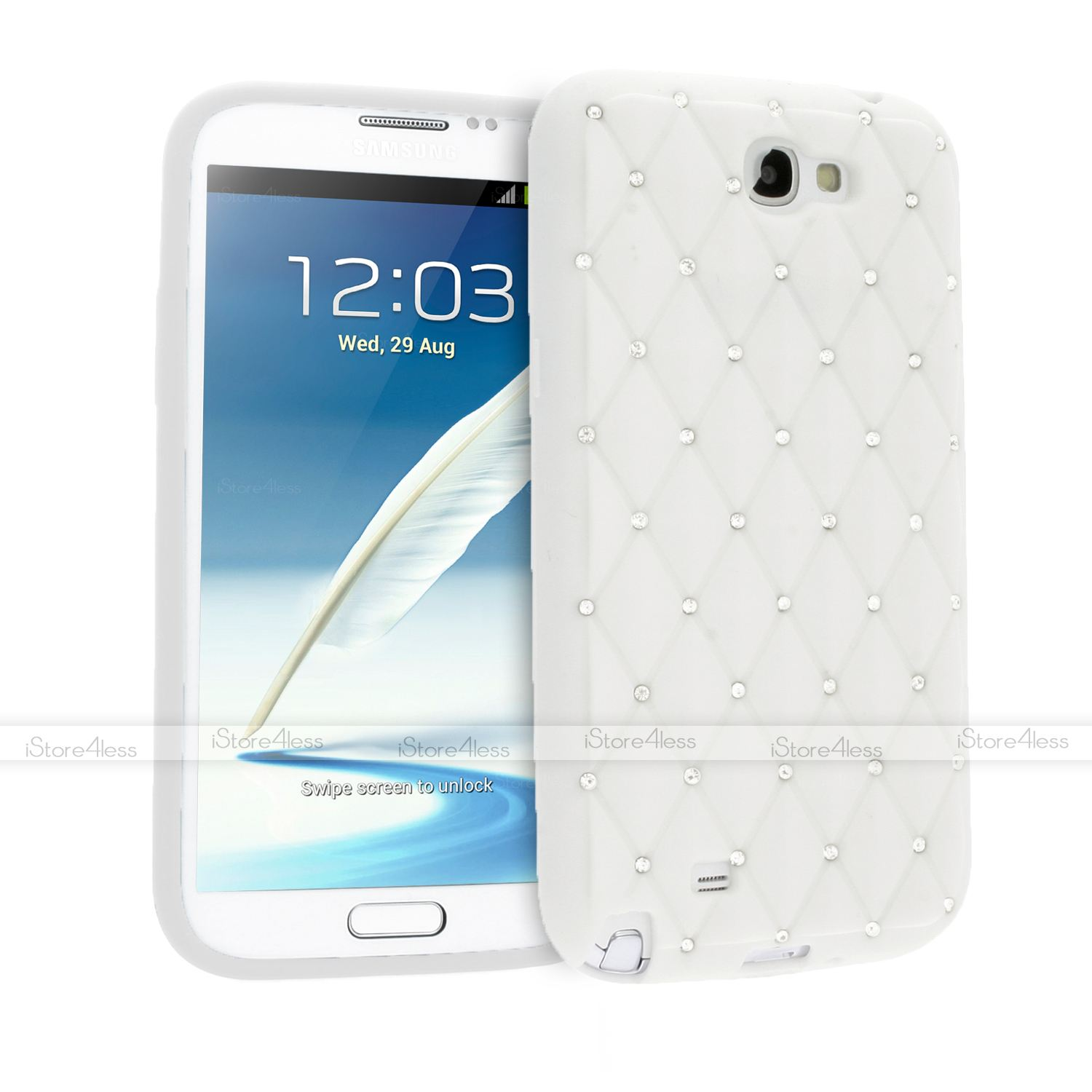 new style d1848 1346a Details about SPARKLE CRYSTAL DIAMOND BLING SOFT SILICONE CASE FOR SAMSUNG  GALAXY NOTE 2 N7100
