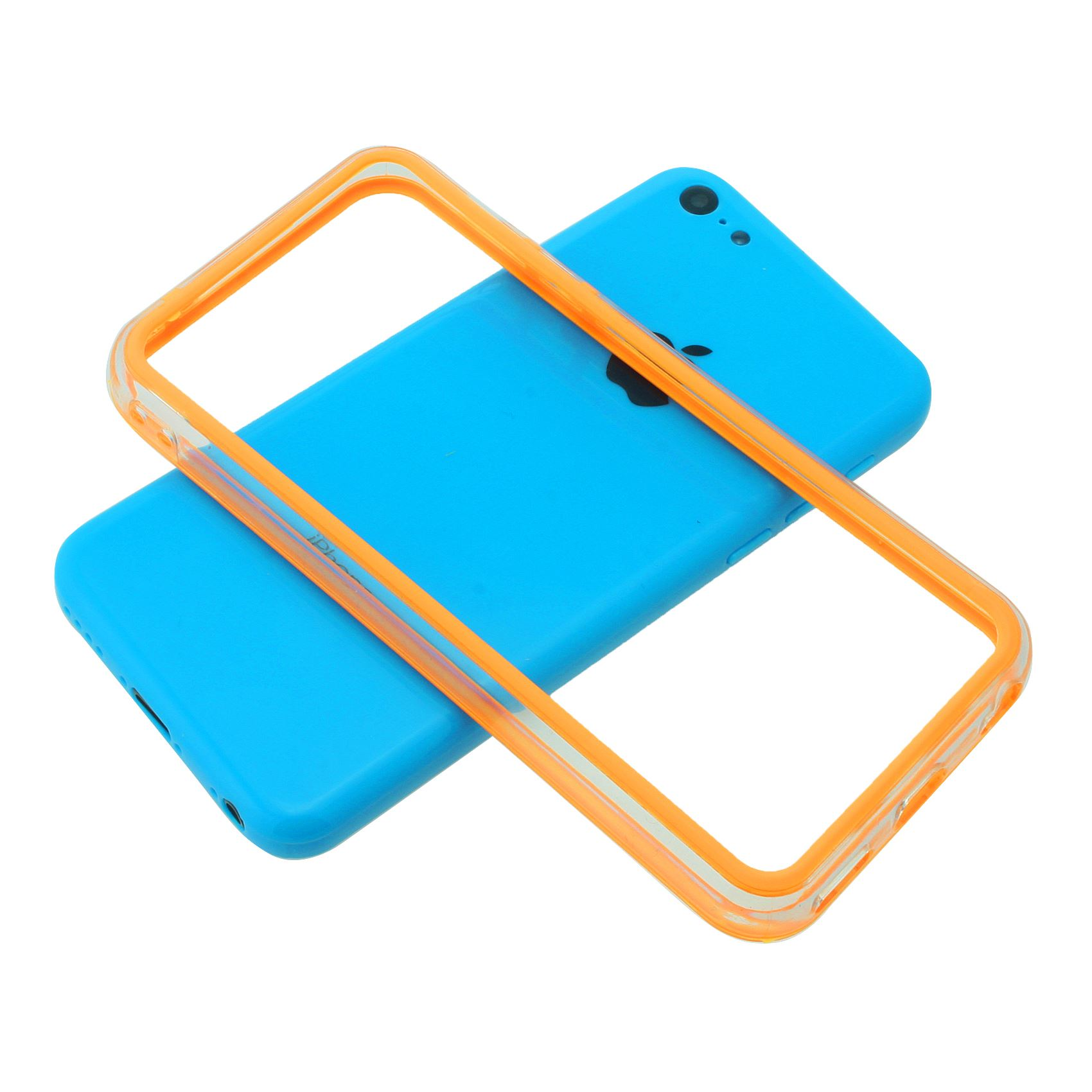 TRANSPARENT-CLEAR-FRAME-BUTTONS-BUMPER-CASE-PLASTIC-COVER-FOR-APPLE-IPHONE-5C thumbnail 7