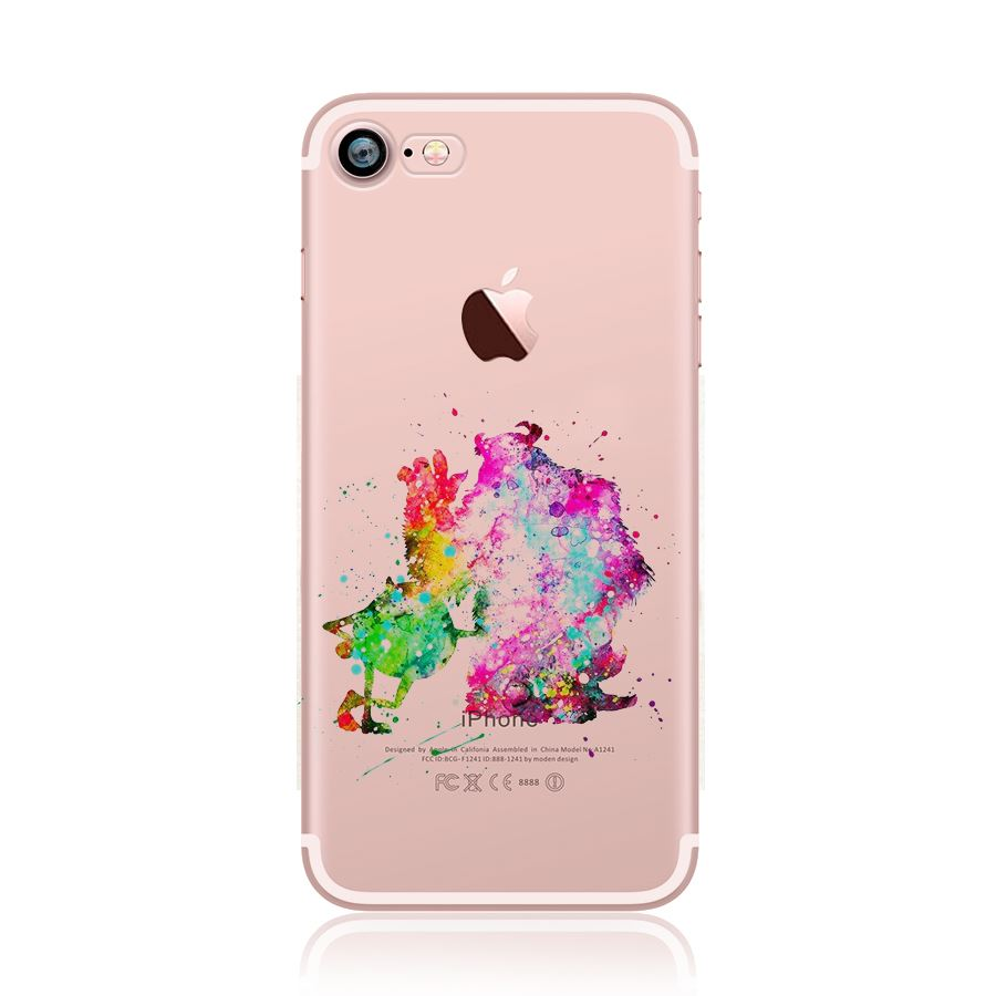 Cartoon Characters Iphone 6 Cases : Watercolour cartoon disney characters paint back case for
