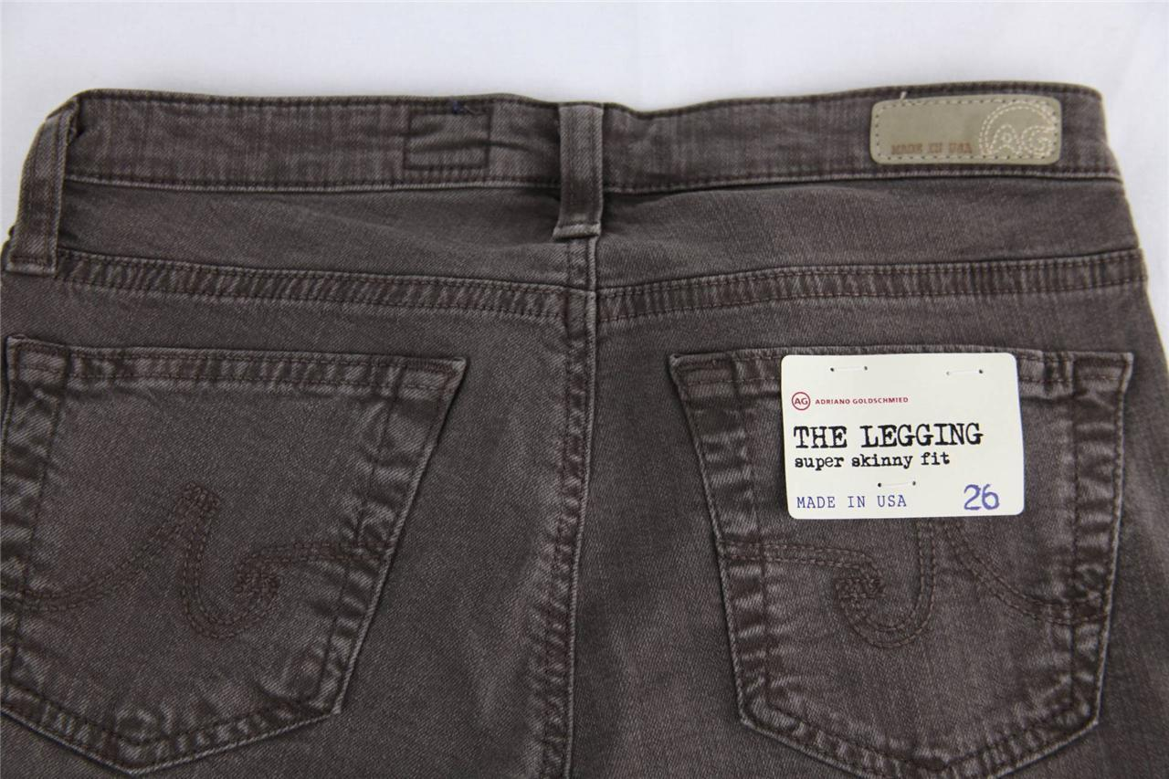"""SUL-CFB AG Adriano Goldschmied /""""The Legging/"""" Super Skinny Jeans Brown"""
