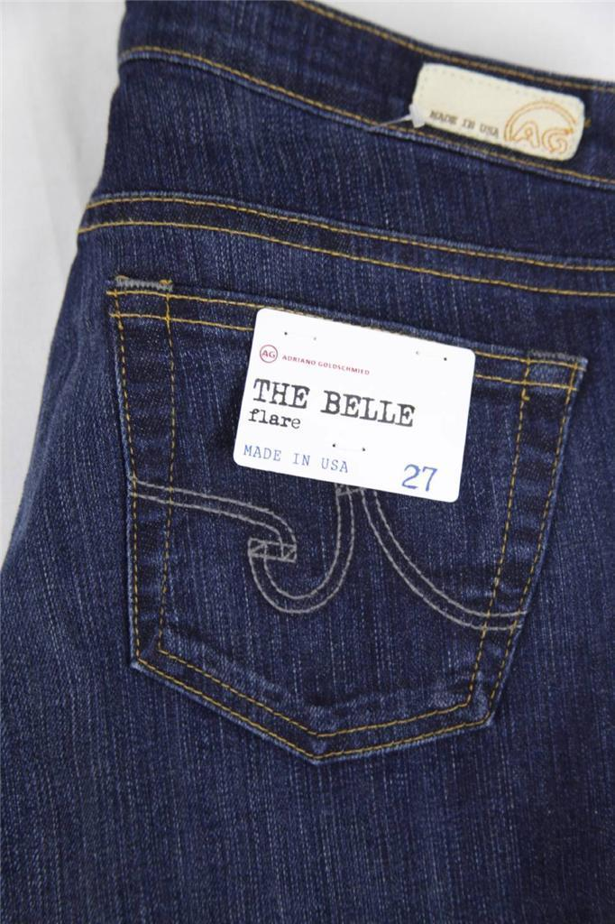 """4 Years Aged AG Adriano Goldschmied /""""The Belle/"""" Slim Flare Dark Blue Jeans"""