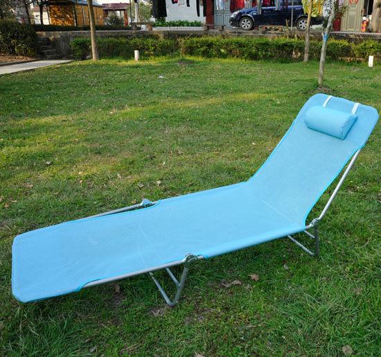 Outdoor Folding Reclining Beach Sun Patio Chaise Lounge