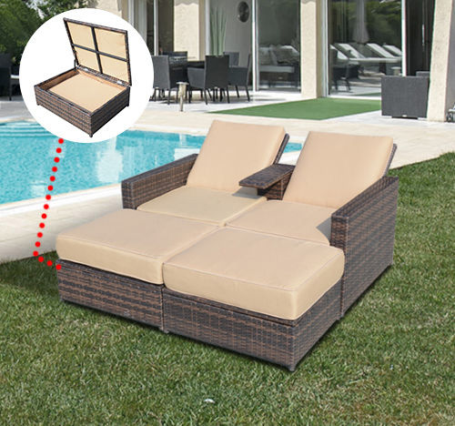 Enjoyable Details About Rattan Wicker Sofa Chair Pool Chaise Lounge Patio Furniture Set Storage Daybed Gmtry Best Dining Table And Chair Ideas Images Gmtryco