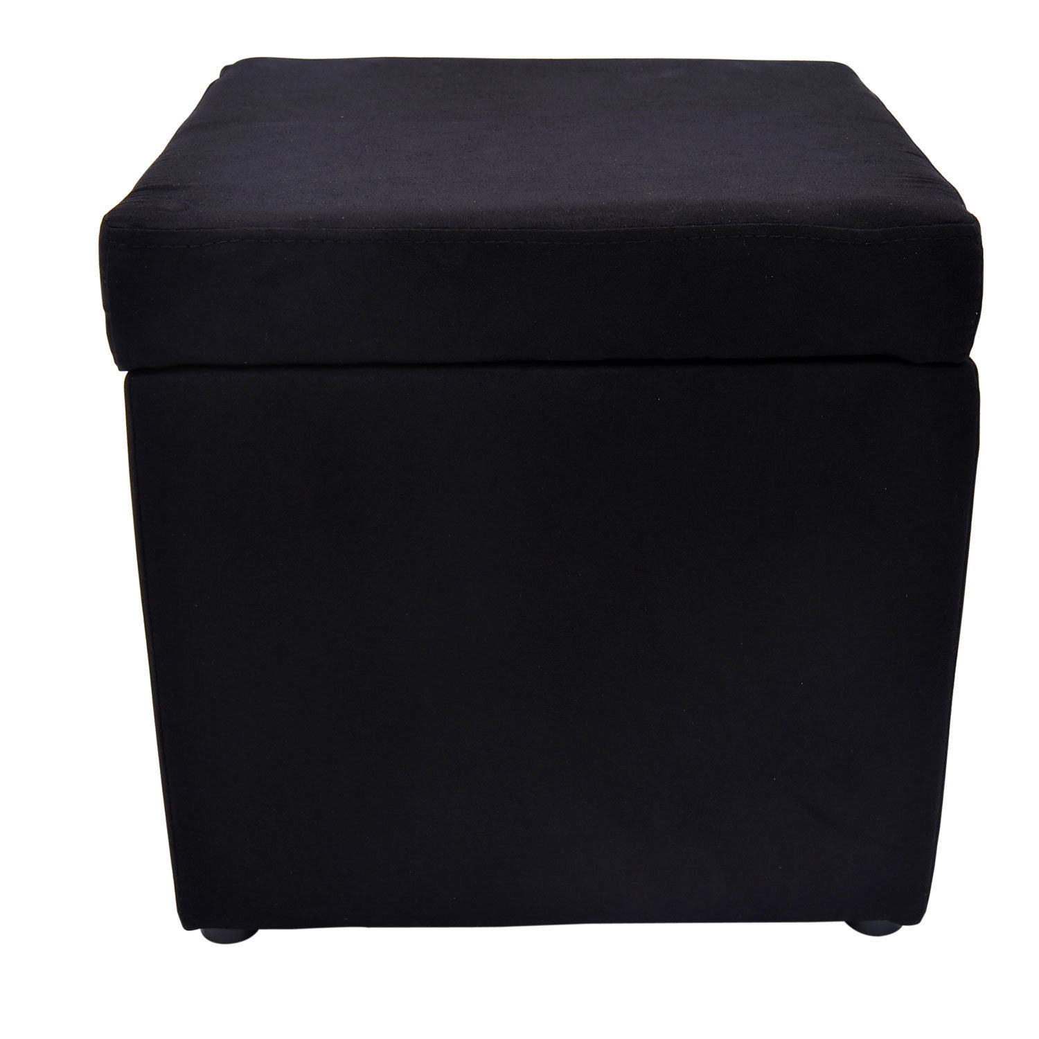 Details About New Storage Ottoman Footrest Seat Footstool Chair Cube  Microfiber Foot Rest