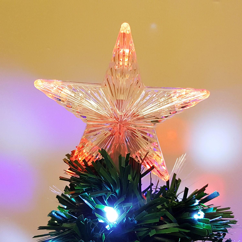7 5 Fiber Optic Christmas Tree: 3/4/5/6/7ft Pre-Lit Artificial Christmas Tree Led Lights