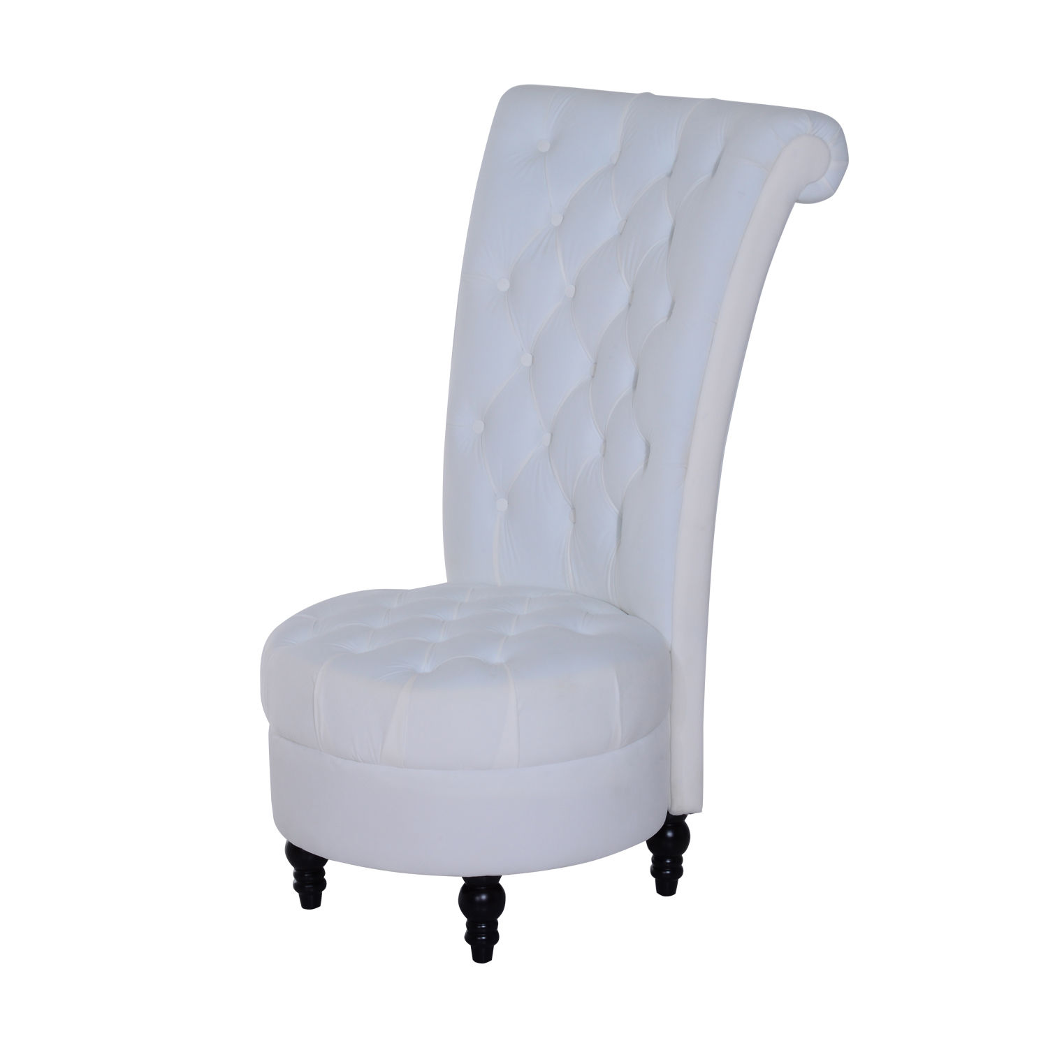 Accent Chair High Back Upholstered Wood Vintage Antique Living Room ...