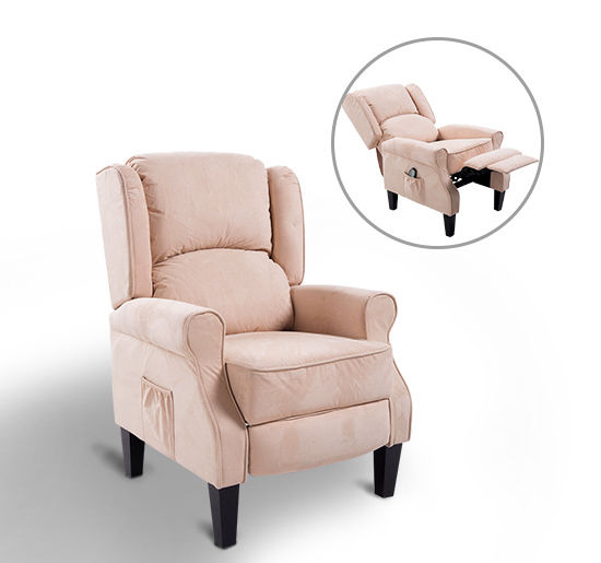Ergonomic Massage Recliner Sofa Chair Heated Lounge Suede