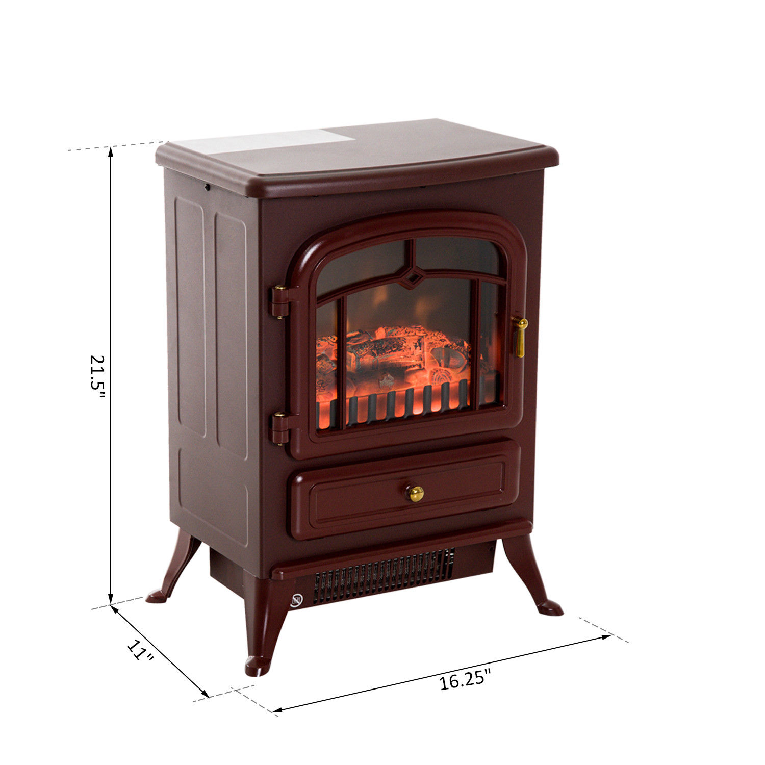 HOMCOM-750-1500W-Portable-Electric-Fireplace-Stove-Heater-Adjustable-LED-Flames thumbnail 10