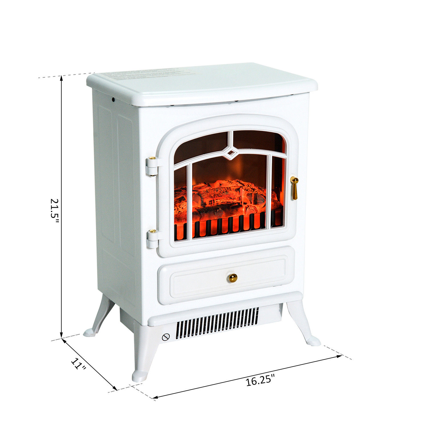 HOMCOM-750-1500W-Portable-Electric-Fireplace-Stove-Heater-Adjustable-LED-Flames thumbnail 18