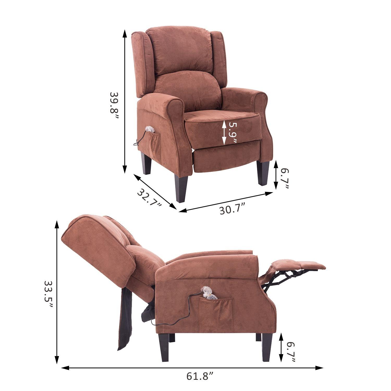 Deluxe Massage Recliner Chair Heated Sofa Ergonomic Lounge