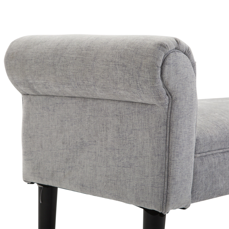52 modern rolled arm bench bed end ottoman sofa seat. Black Bedroom Furniture Sets. Home Design Ideas