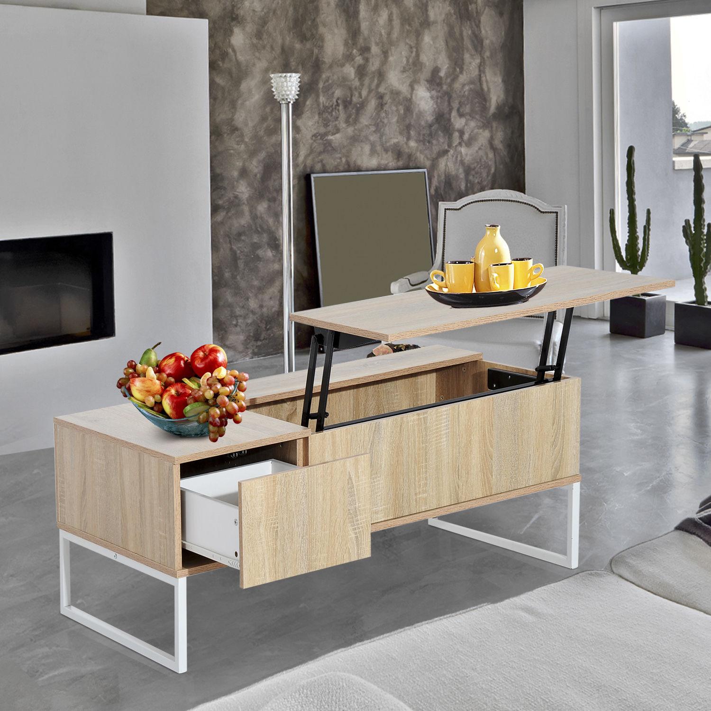 "Hopper Storage Coffee Table: Coffee Table Tea 43"" Lift Top Storage Drawer Wood Living"