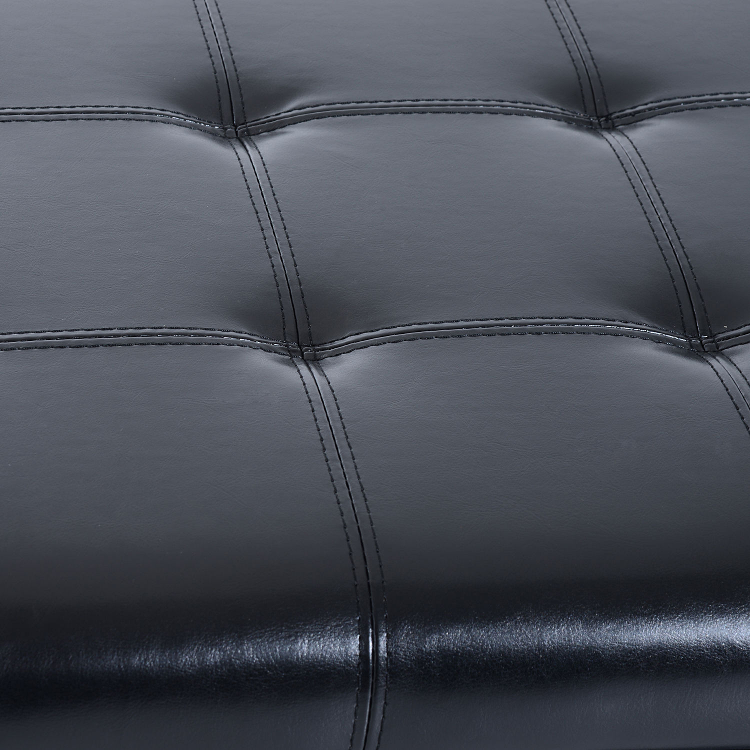 51-034-Tufted-Top-Storage-Ottoman-Bench-PU-Leather-Organizer-Chair-Footstool-Large thumbnail 9