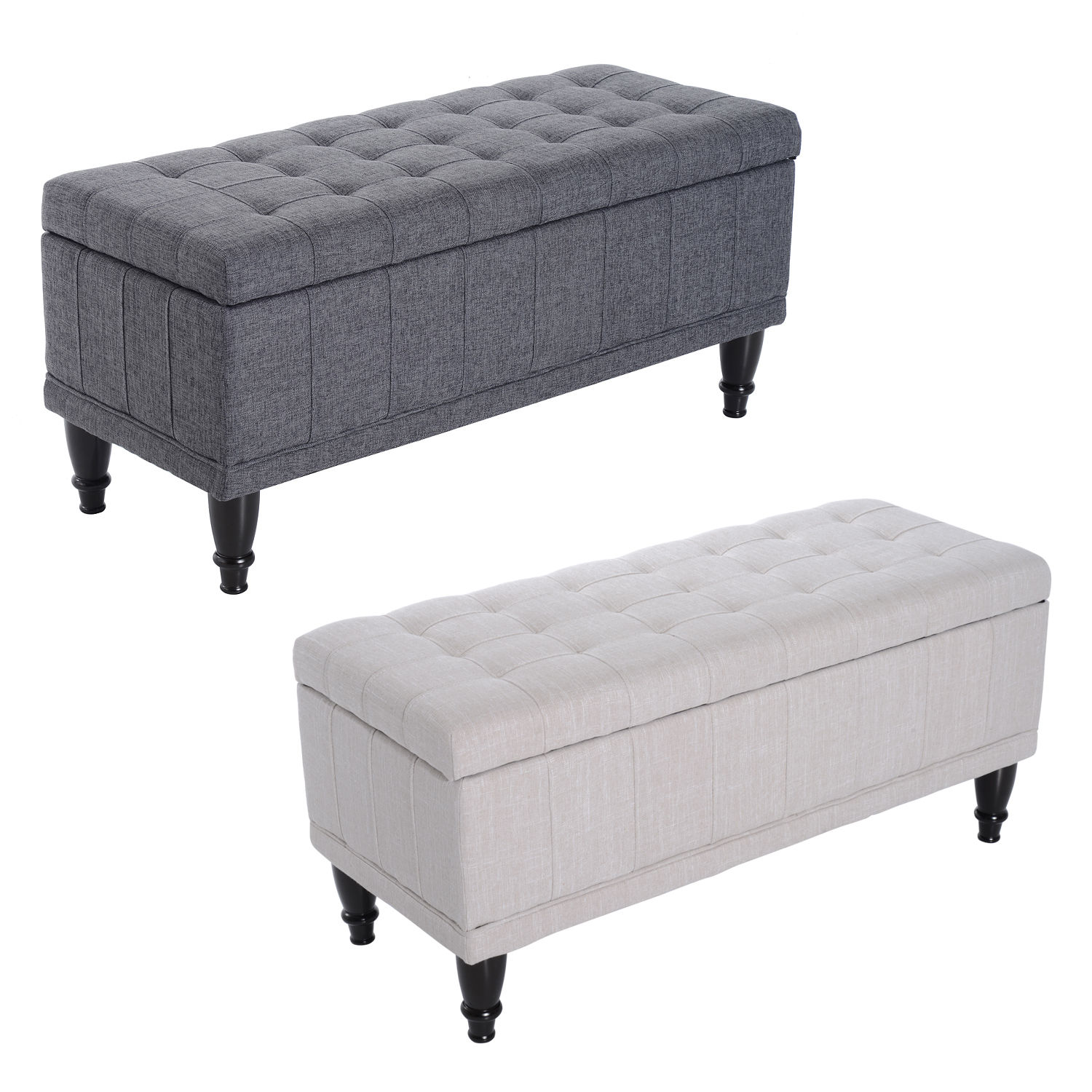 Groovy Details About 42 Lift Top Storage Ottoman Tufted Fabric Shoe Bench Footrest Stool Seat Andrewgaddart Wooden Chair Designs For Living Room Andrewgaddartcom