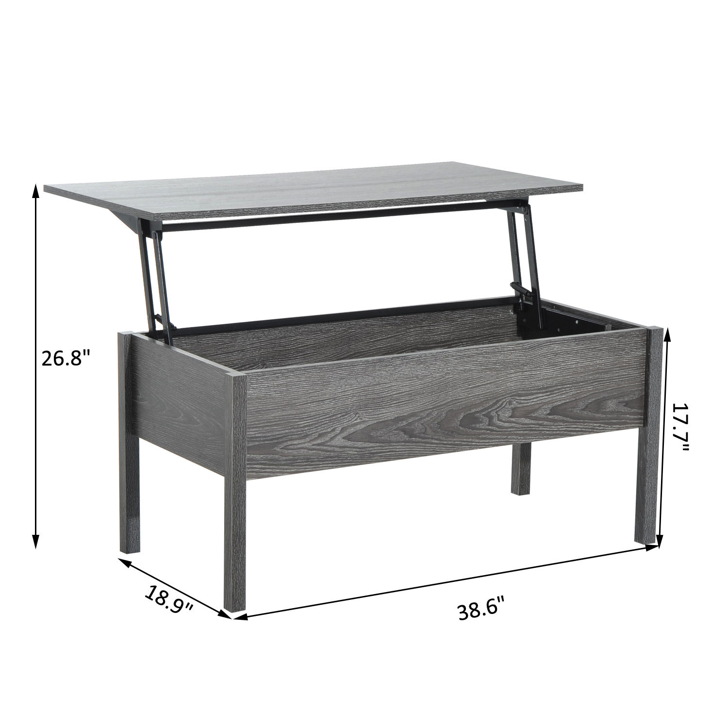 HOMCOM-Wood-Coffee-Table-End-Table-With-Lift-Top-Storage-Shelf-Home-Furniture thumbnail 13