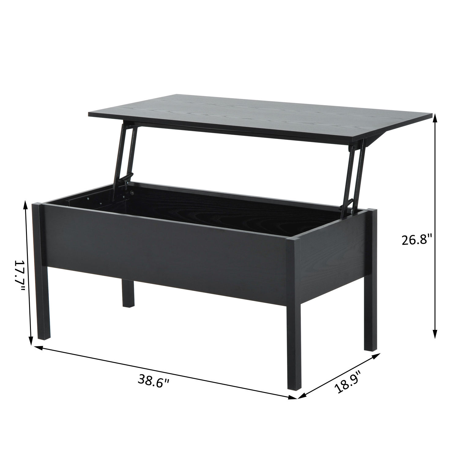 Storage End Tables For Living Room: Modern Coffee End Table Lift Top With Storage Space Living