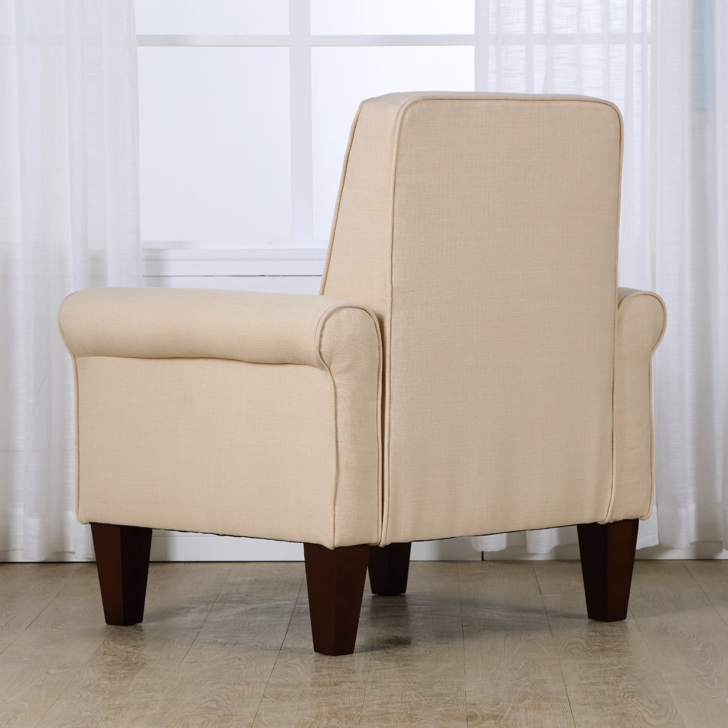 upholstered armchairs living room accent tufted back linen upholstered club chair armchair 14891