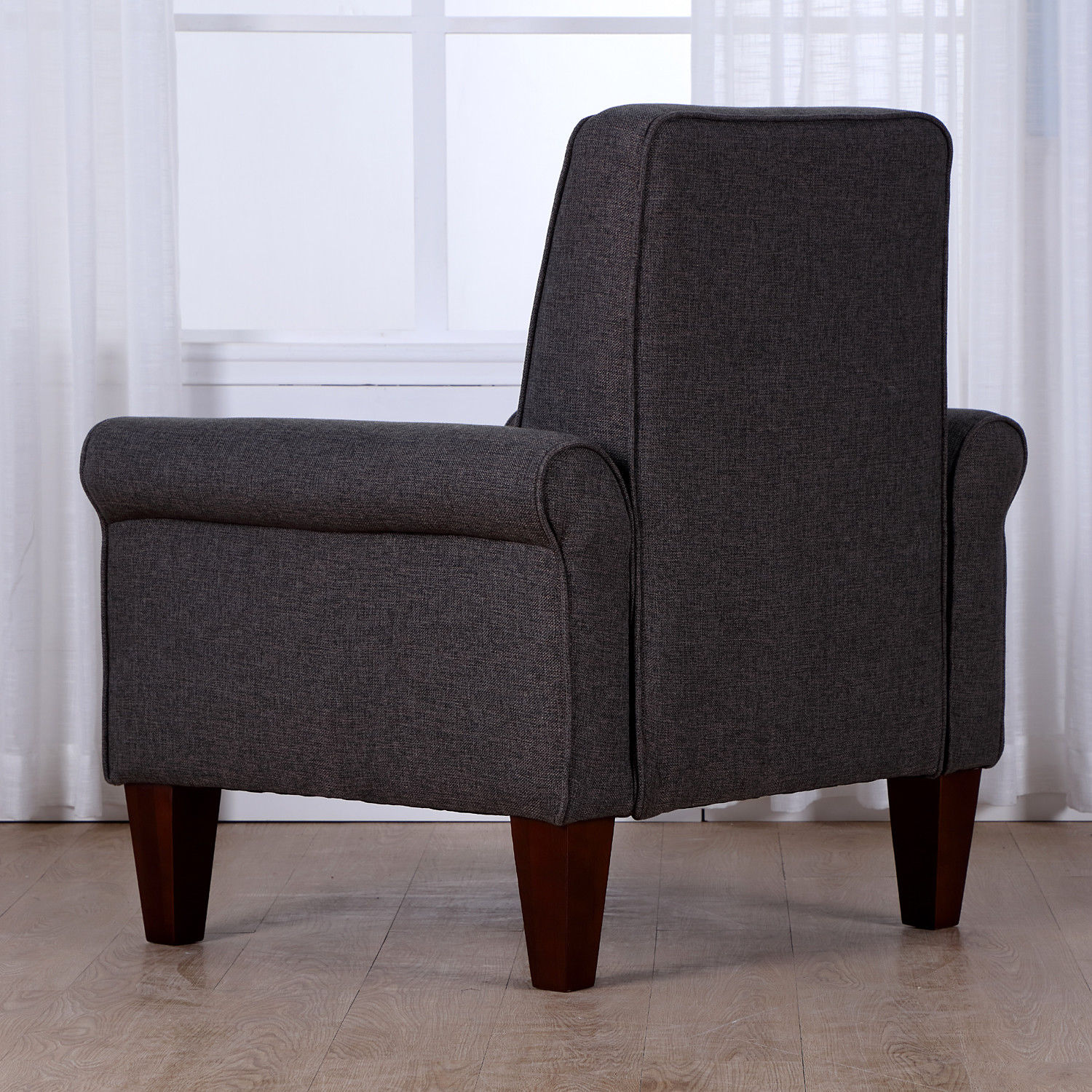 accent armchairs for living room accent tufted back linen upholstered club chair armchair 22739