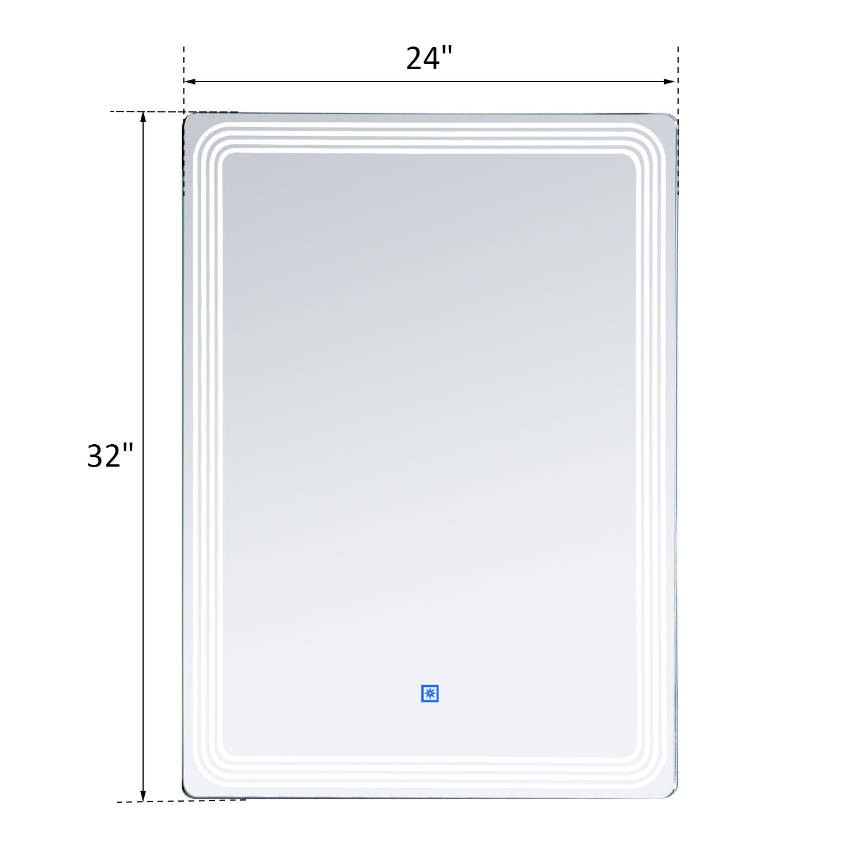 Mounting Bathroom Mirror: LED Illuminated Backlit Wall Mount Bathroom Vanity Mirror